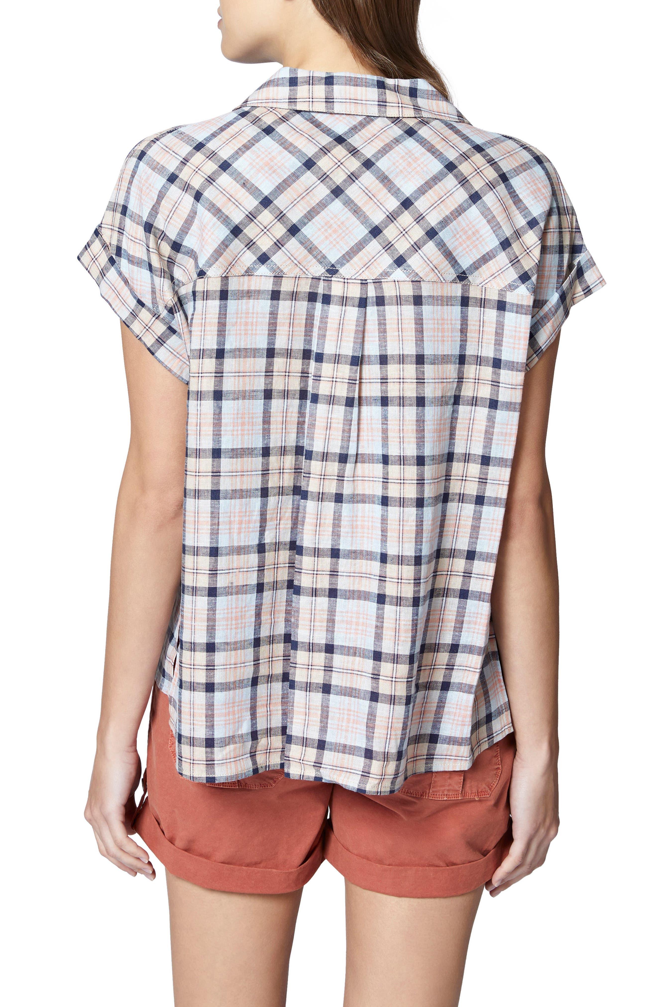 Mod Short Sleeve Boyfriend Shirt,                             Alternate thumbnail 10, color,