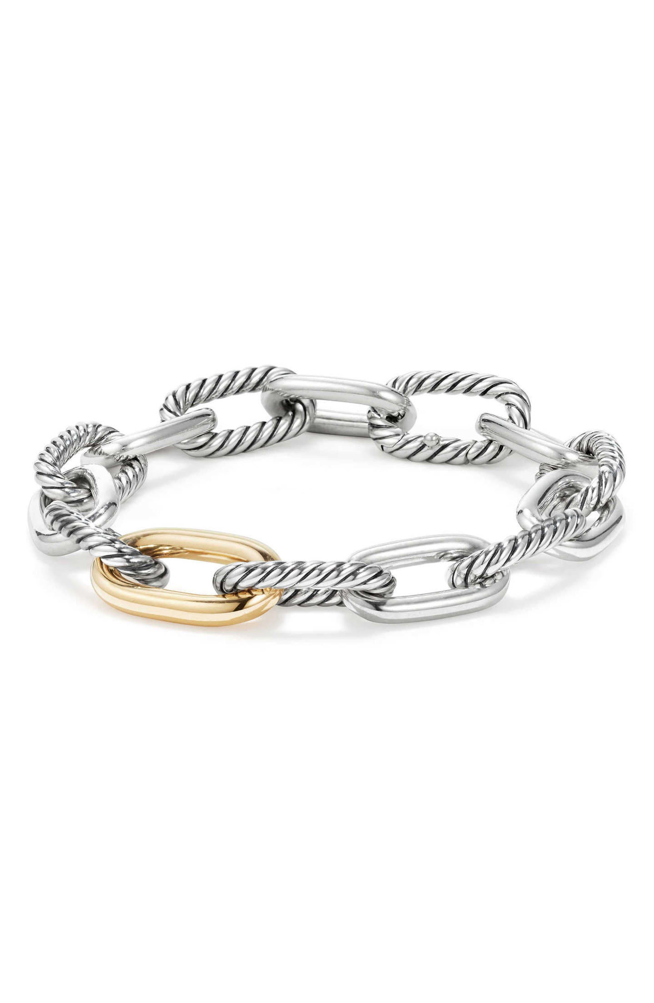 DY Madison Chain Medium Bracelet,                             Main thumbnail 1, color,                             GOLD/ SILVER