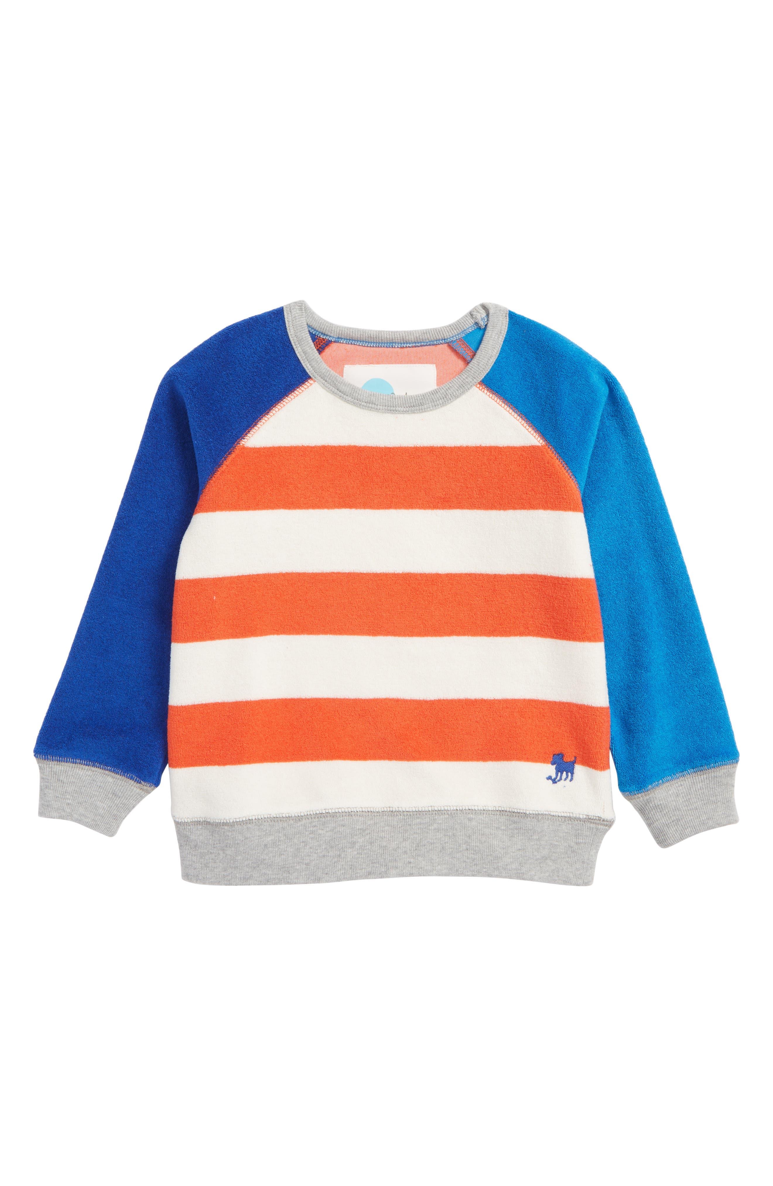 Stripe Toweling Sweatshirt,                         Main,                         color, 600