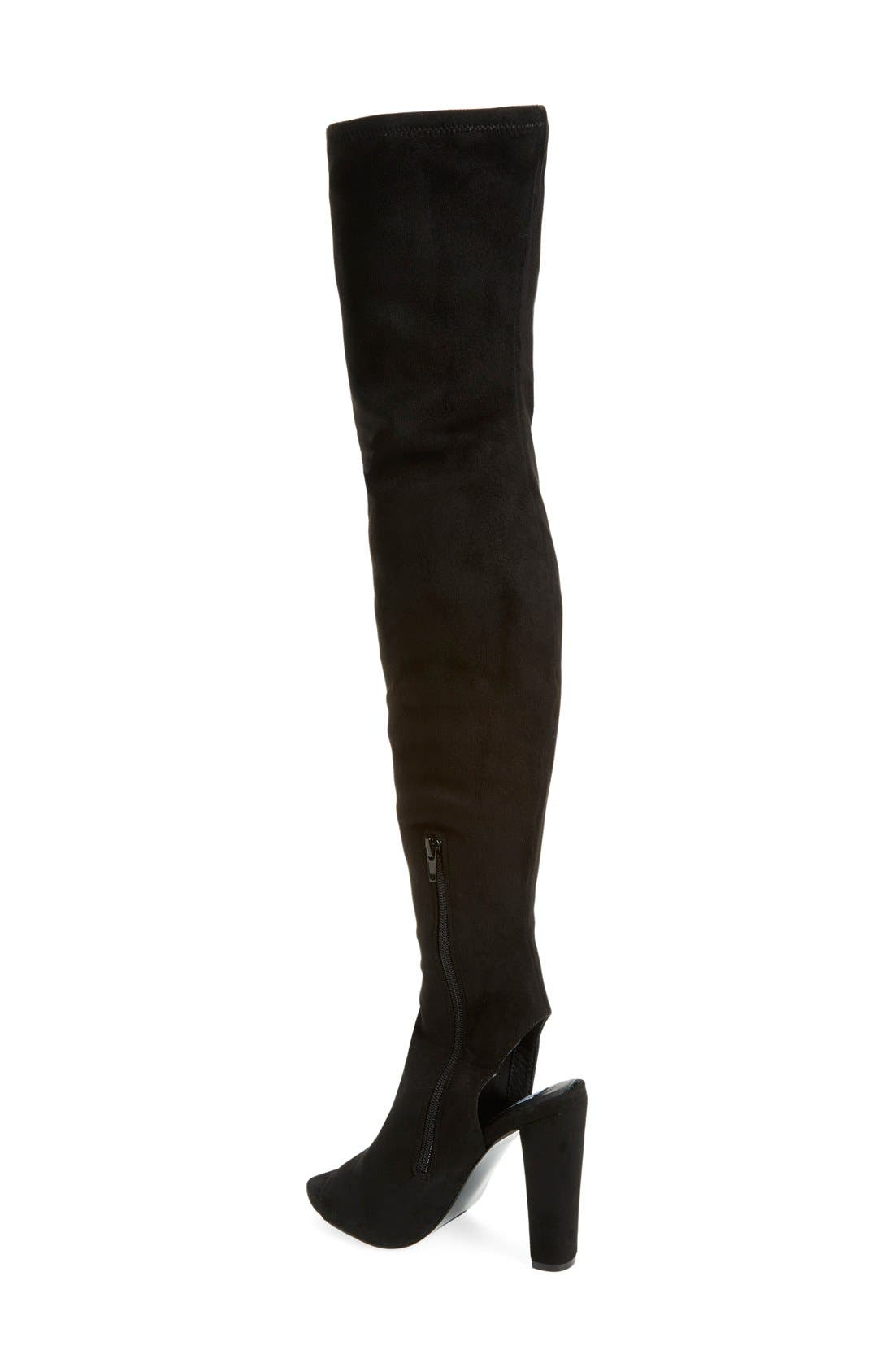'Yimme' Over the Knee Boot,                             Alternate thumbnail 4, color,                             007