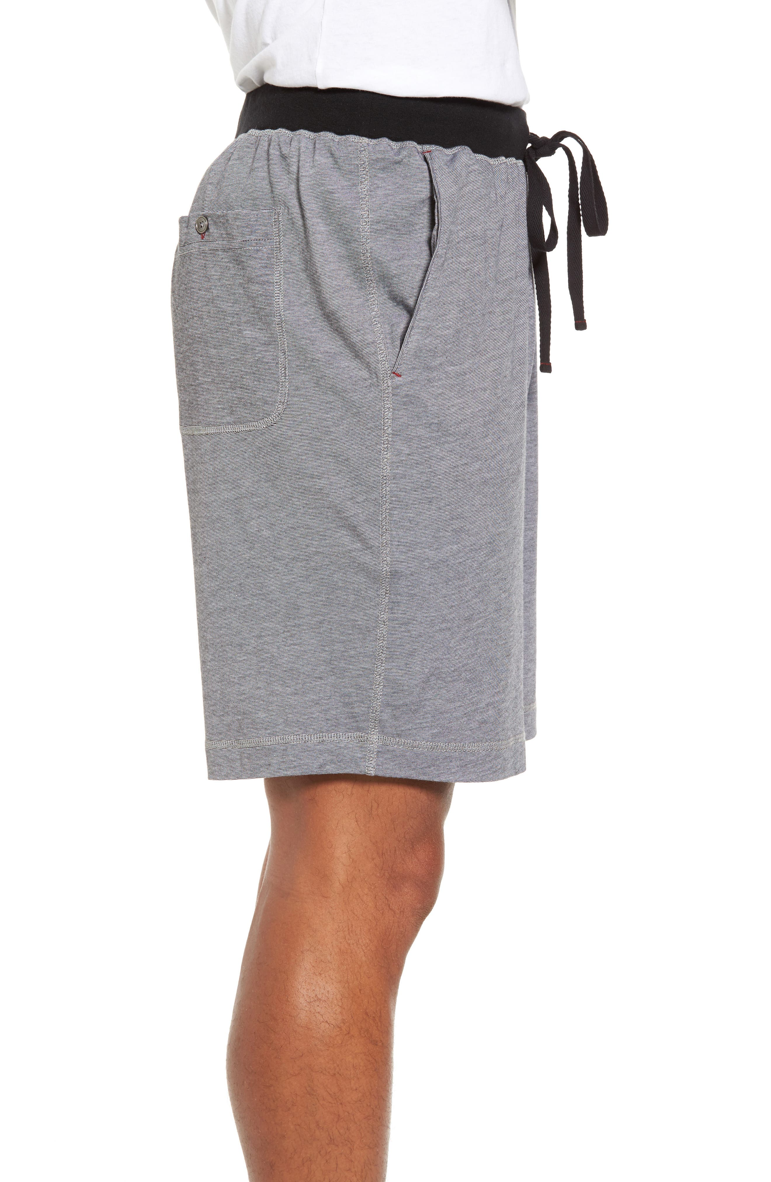 Pima Cotton & Modal Lounge Shorts,                             Alternate thumbnail 3, color,                             001