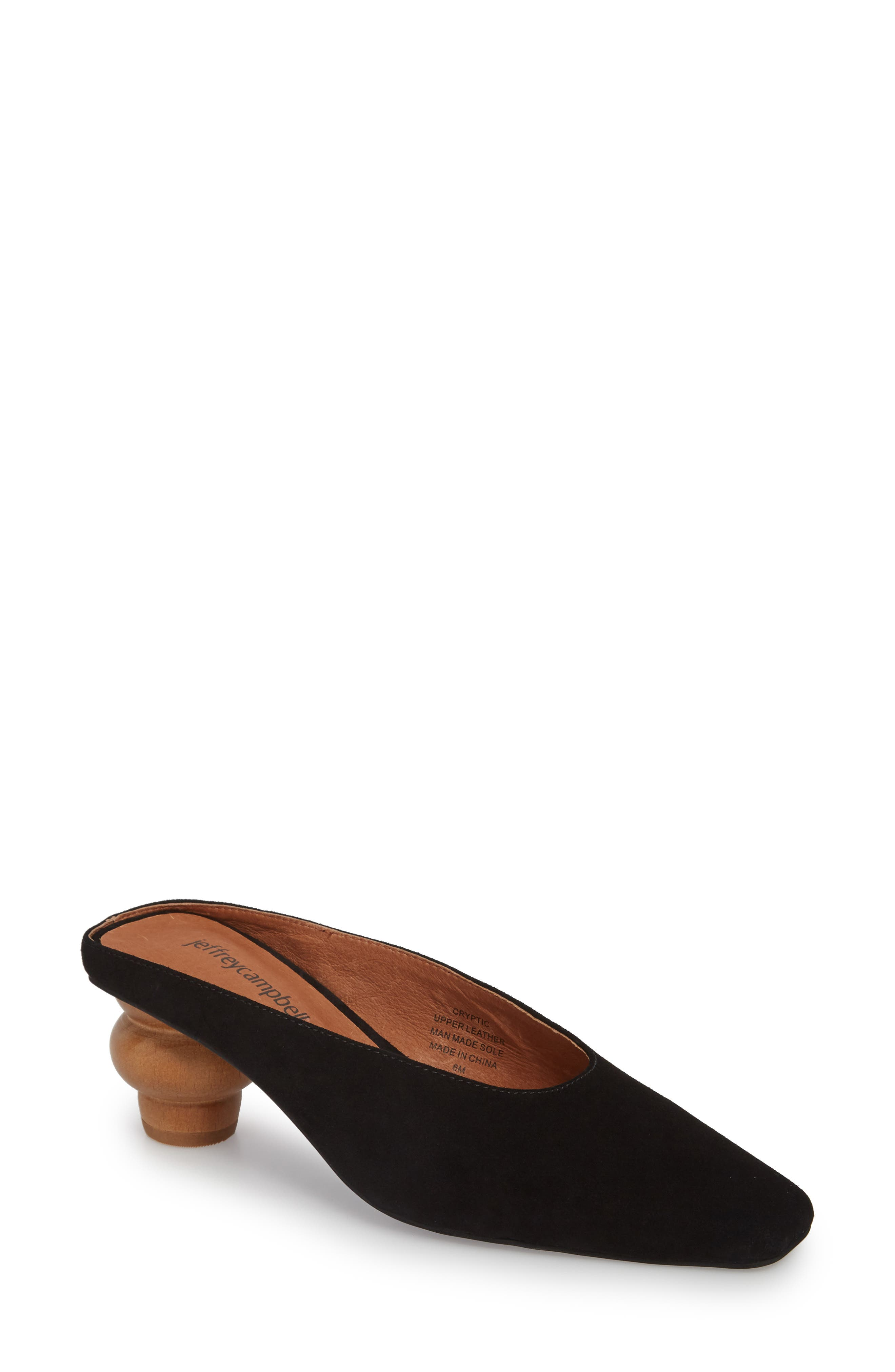 JEFFREY CAMPBELL,                             Cryptic Statement Heel Mule,                             Main thumbnail 1, color,                             005