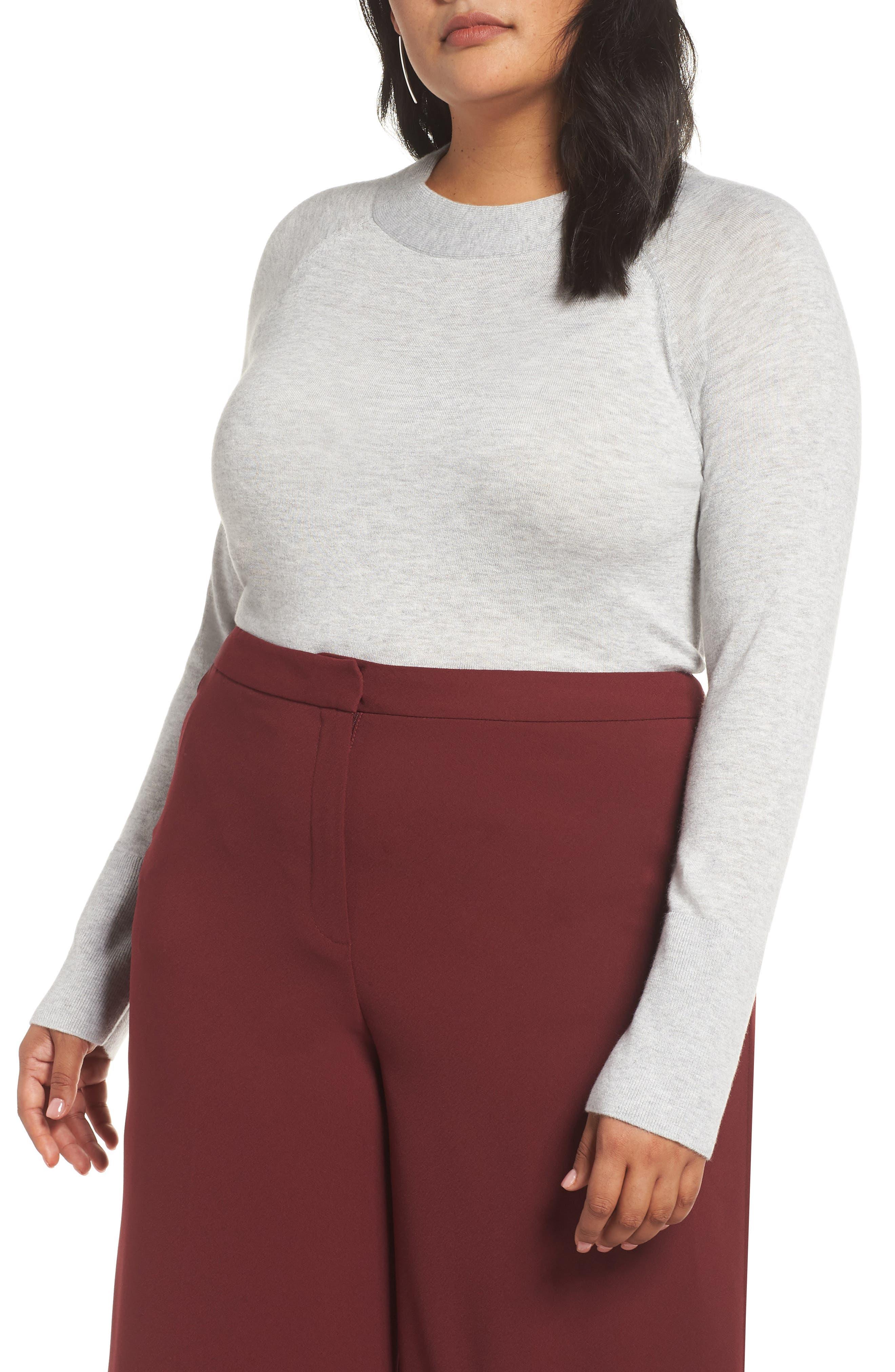 Mock Neck Sweater,                             Main thumbnail 1, color,                             050