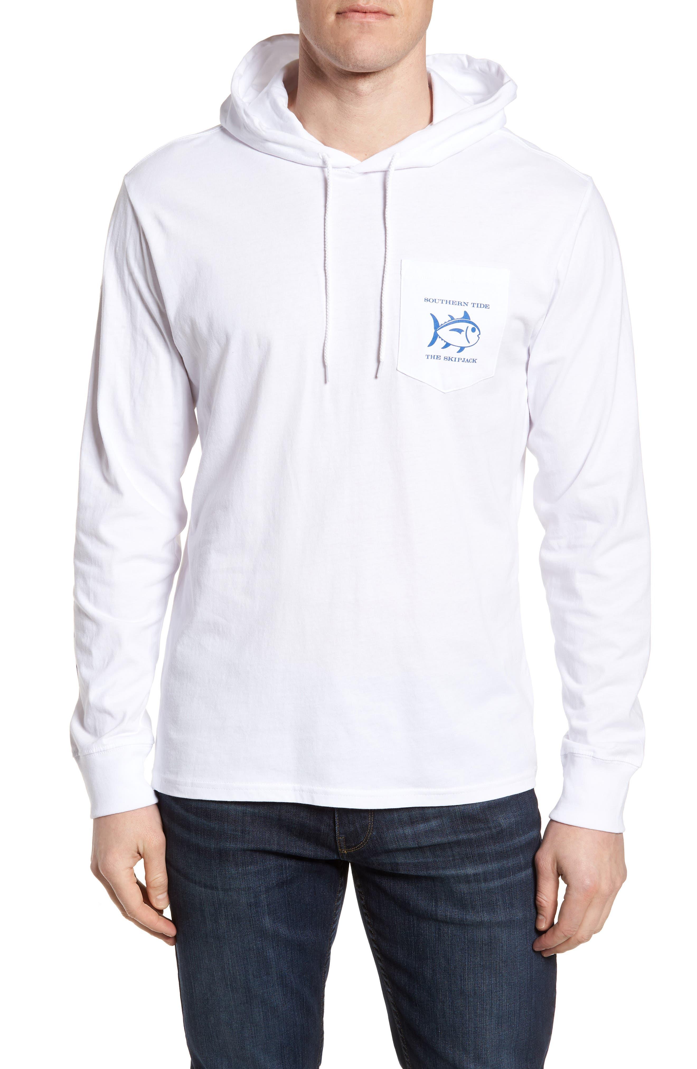 Southern Tide Diamond Logo Hoodie, White