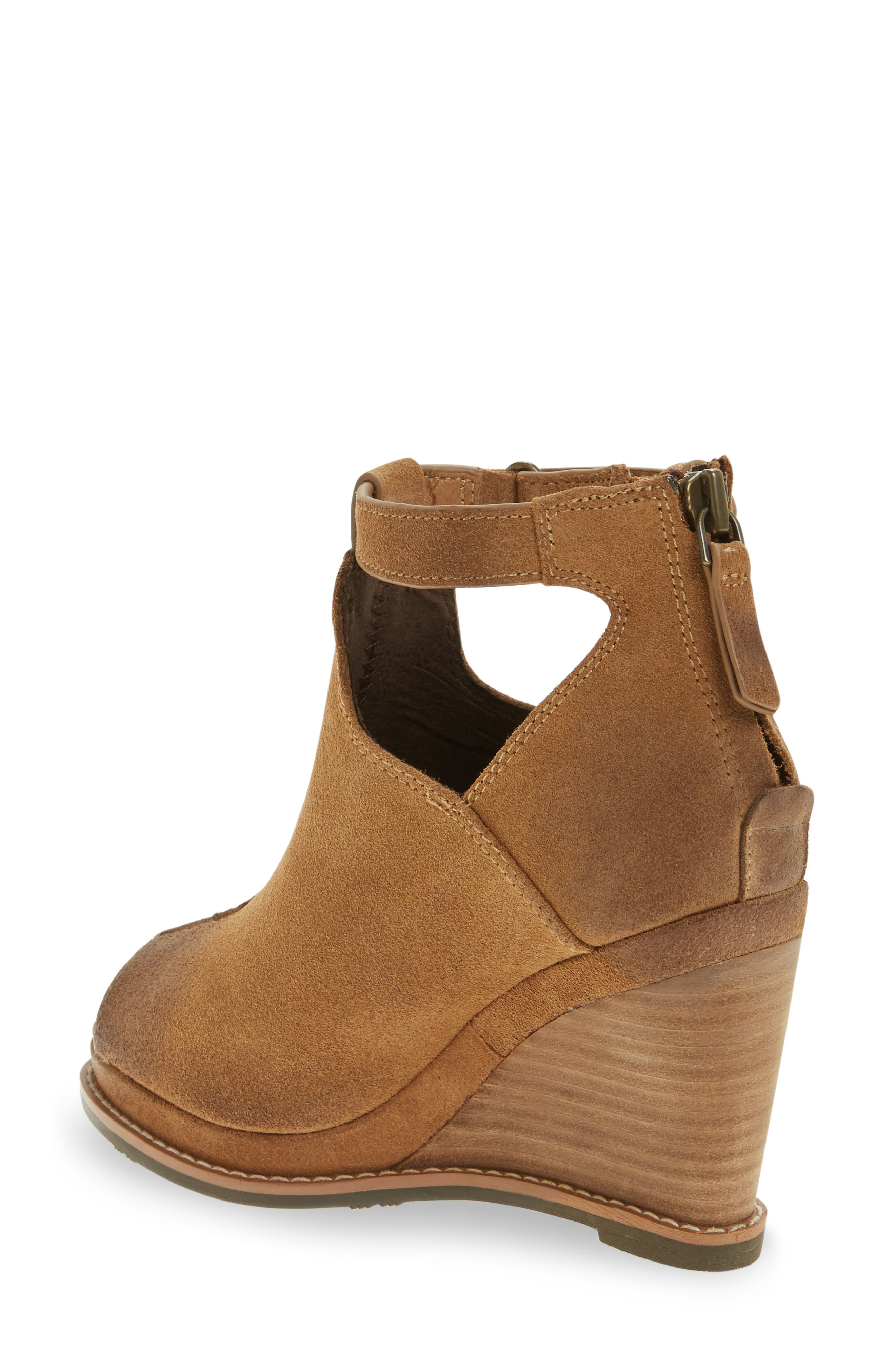 Backstage Wedge Bootie,                             Alternate thumbnail 4, color,