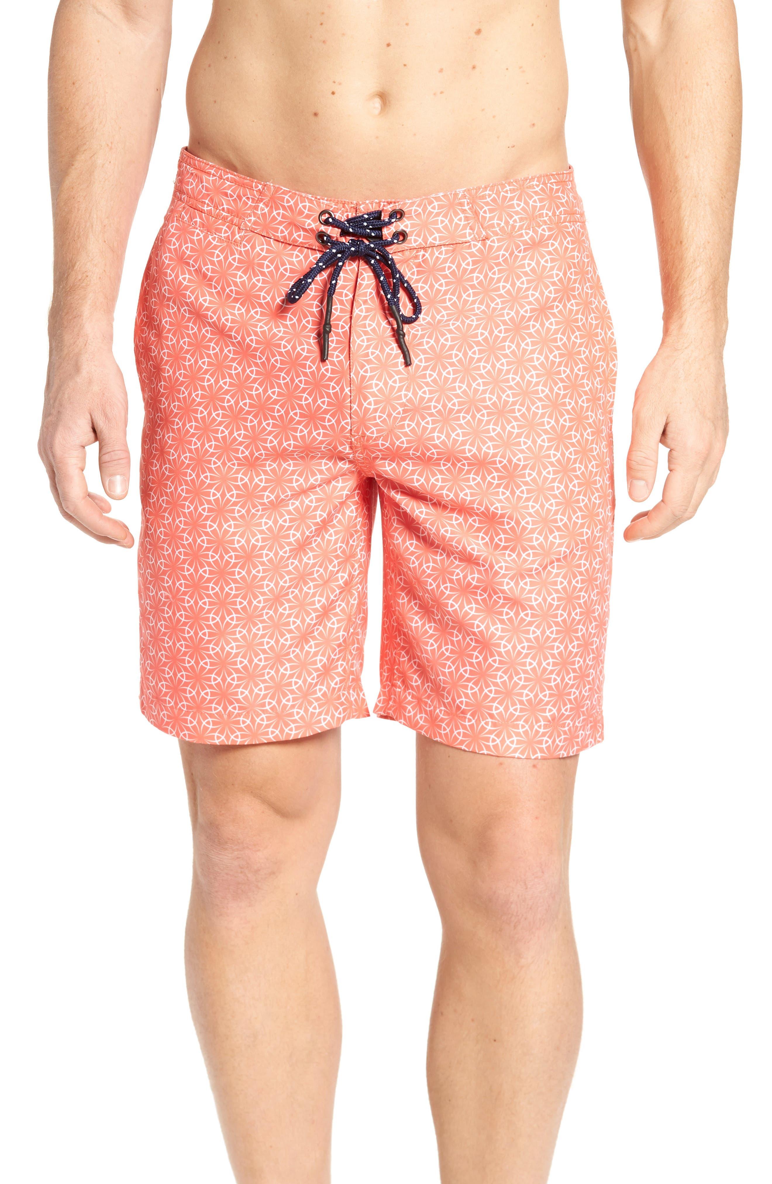 Gradient Flower Board Shorts,                             Main thumbnail 1, color,