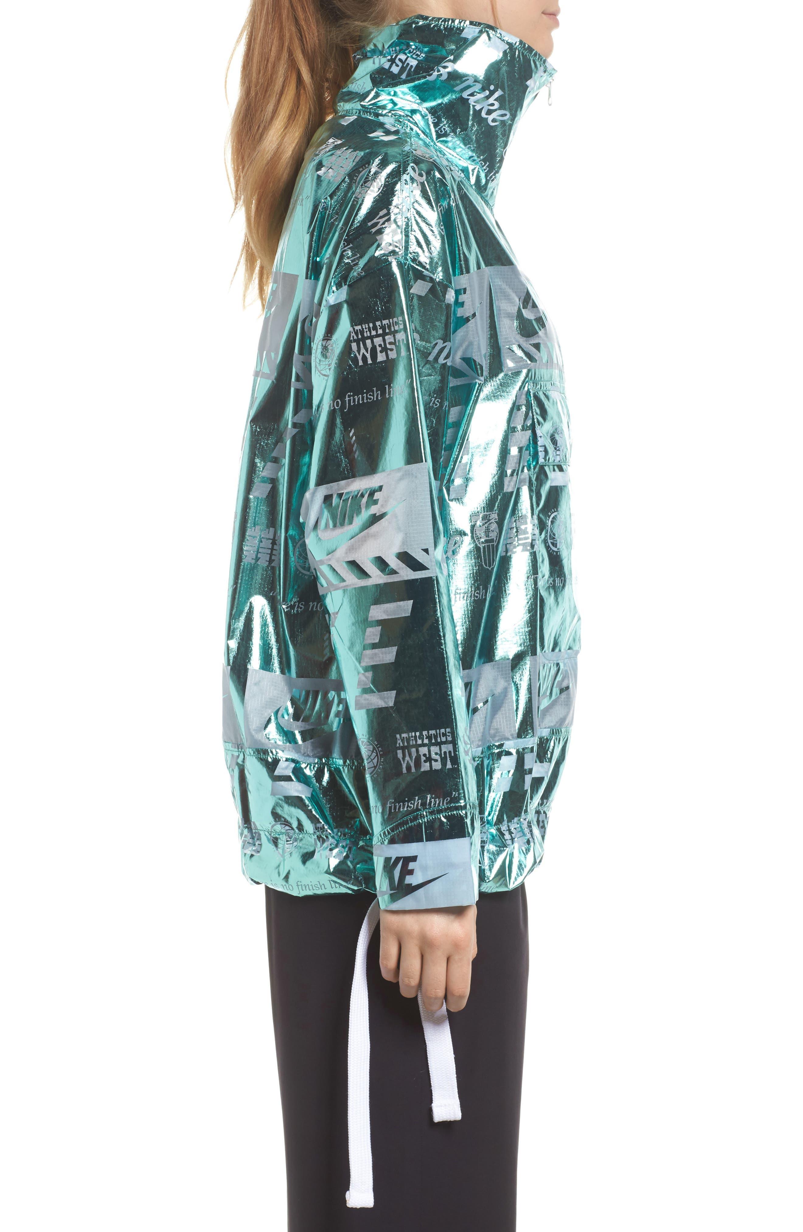 Sportswear Metallic Half Zip Jacket,                             Alternate thumbnail 13, color,