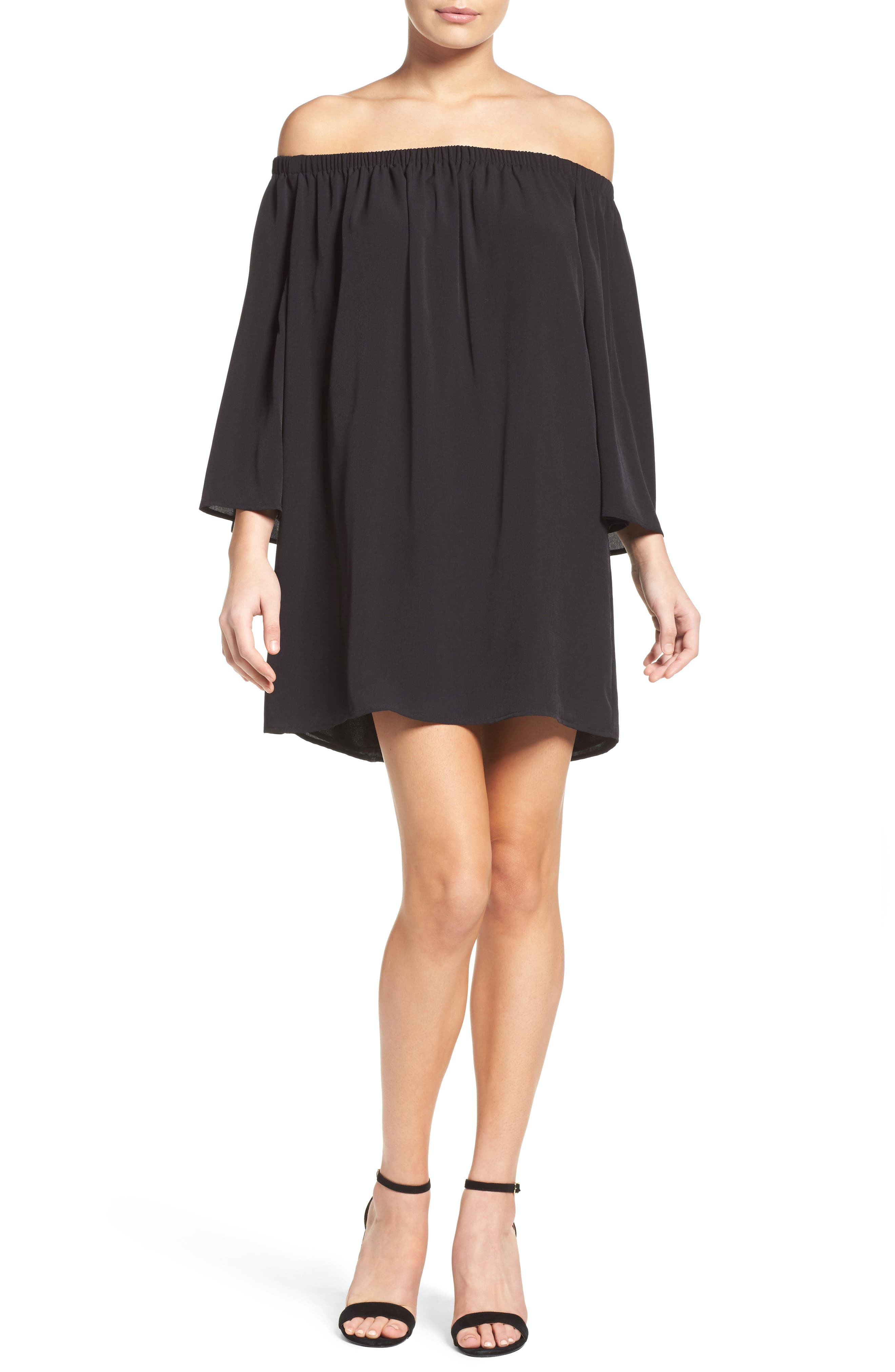 Polly Off the Shoulder Dress,                             Alternate thumbnail 14, color,