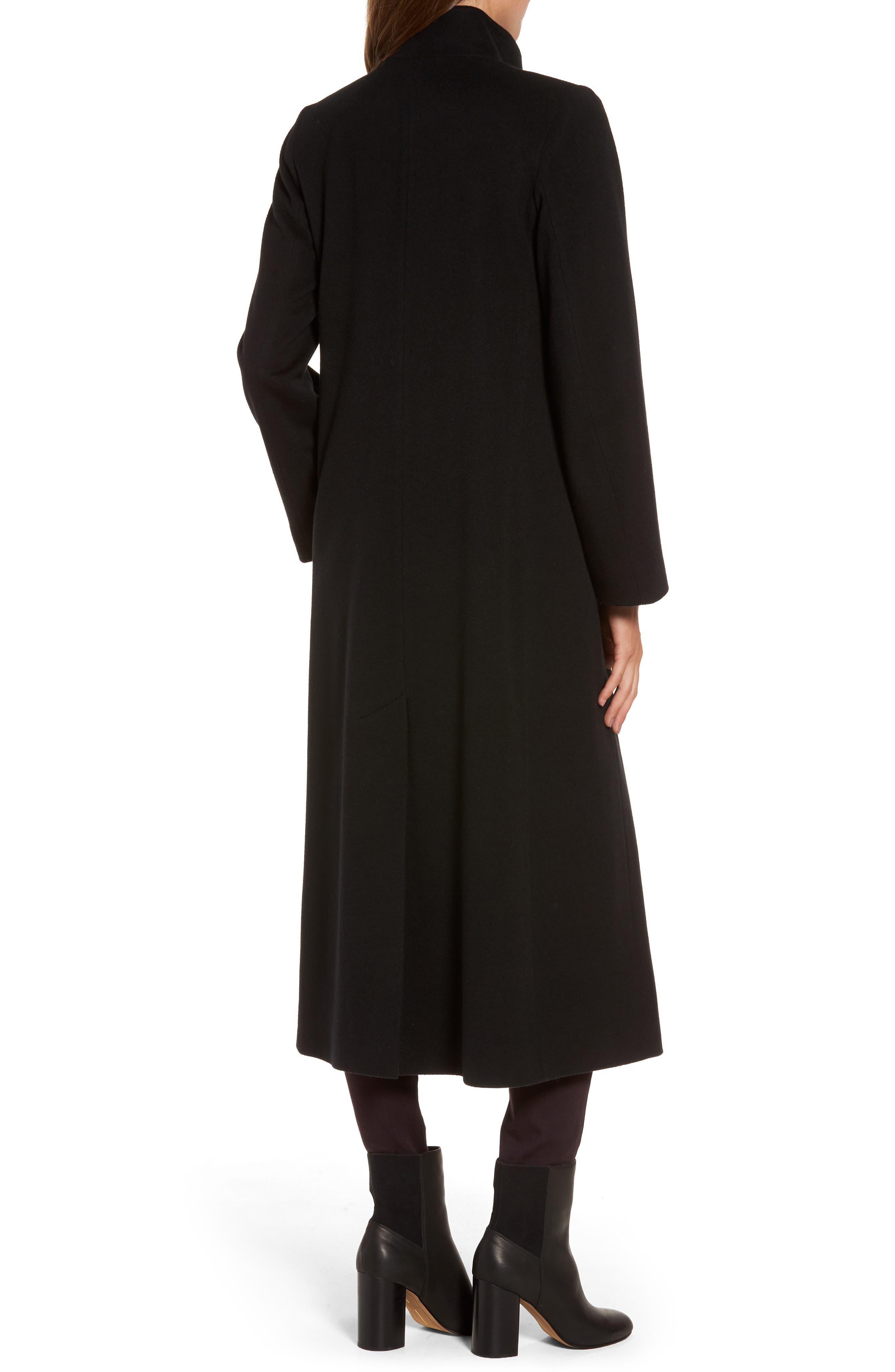 Cashmere Long Coat,                             Alternate thumbnail 2, color,                             001