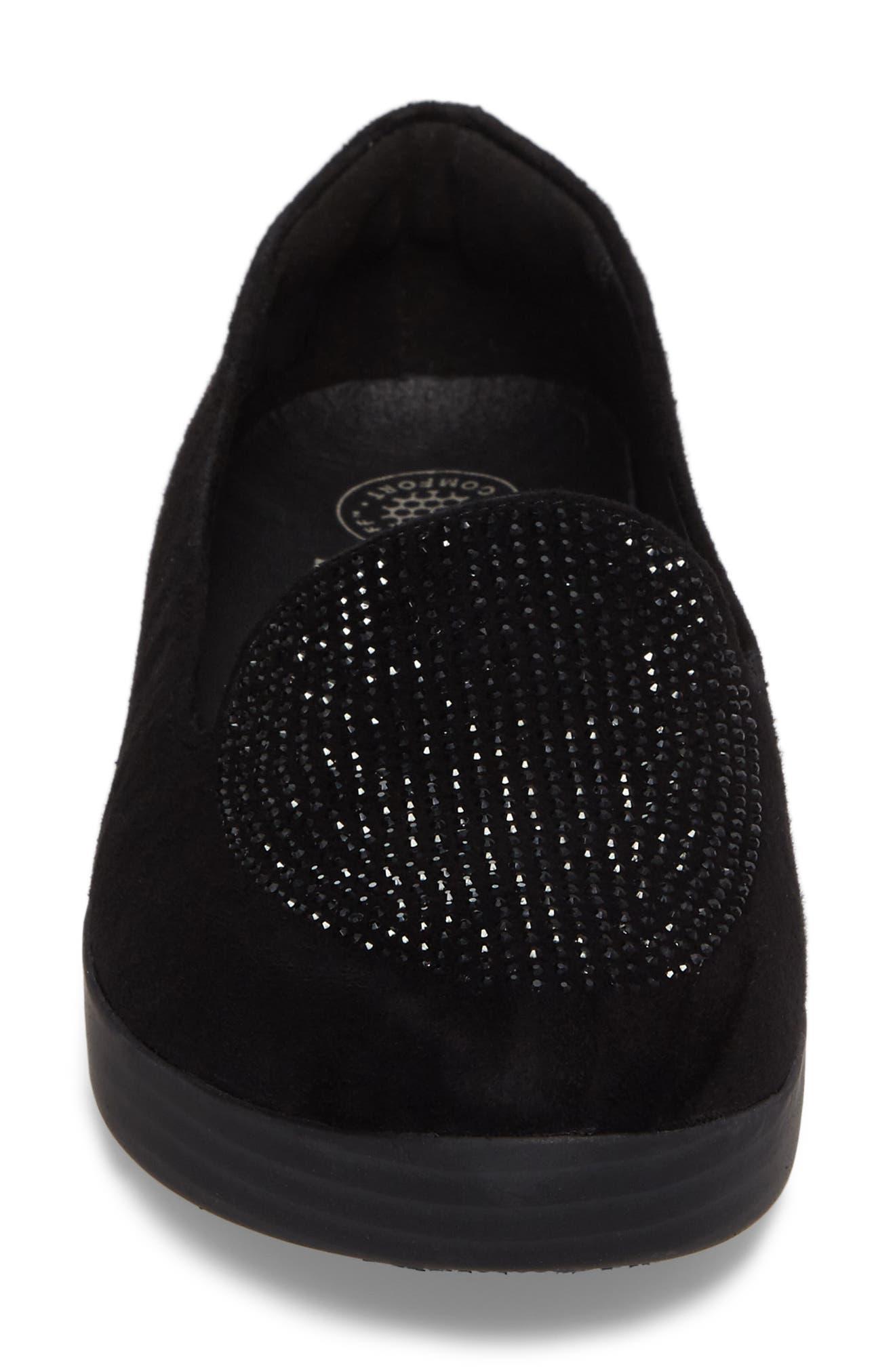 Sparkly Sneakerloafer Slip-On,                             Alternate thumbnail 4, color,                             001