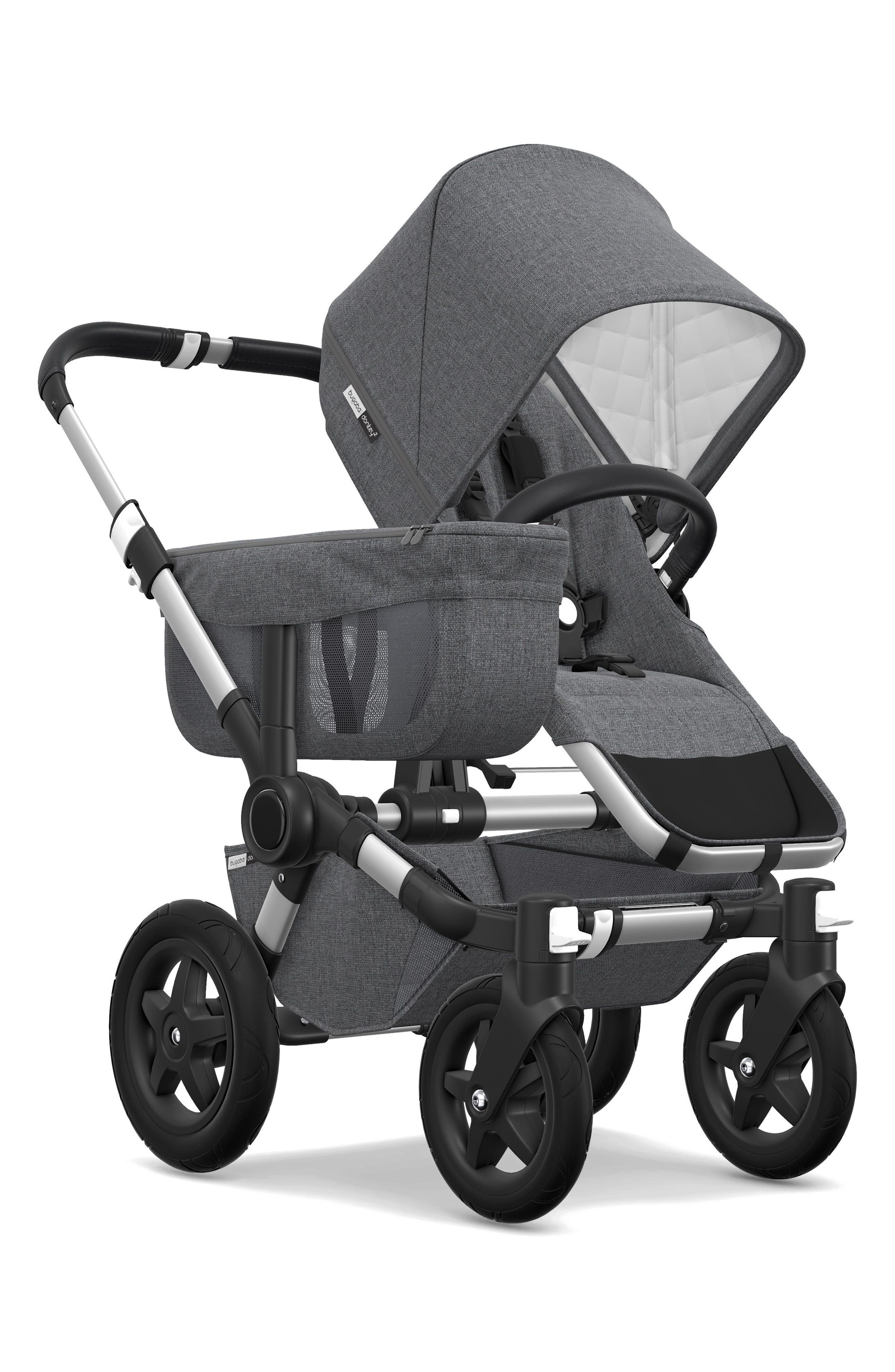 Donkey2 Classic Mono Complete Stroller with Bassinet,                             Alternate thumbnail 2, color,                             GREY MELANGE/ ALUMINUM