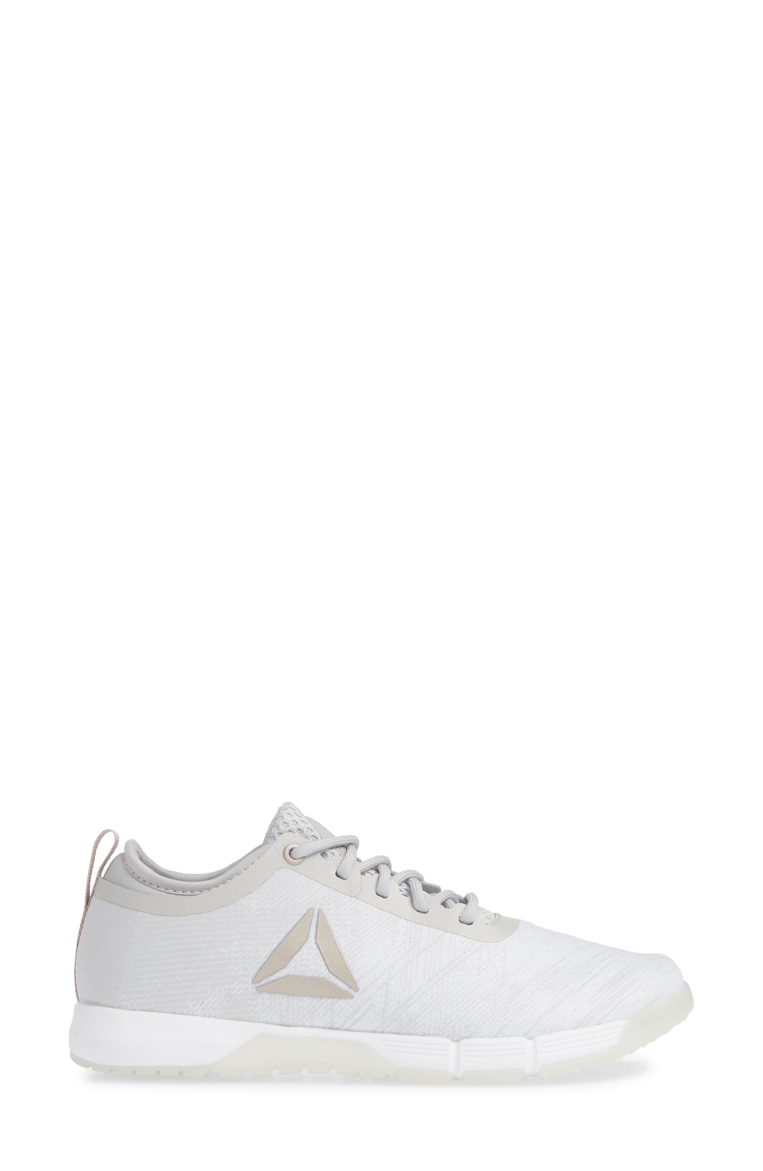 Speed Her TR Training Shoe,                             Alternate thumbnail 3, color,                             WHITE/ SPIRIT WHITE/ MOONDUST