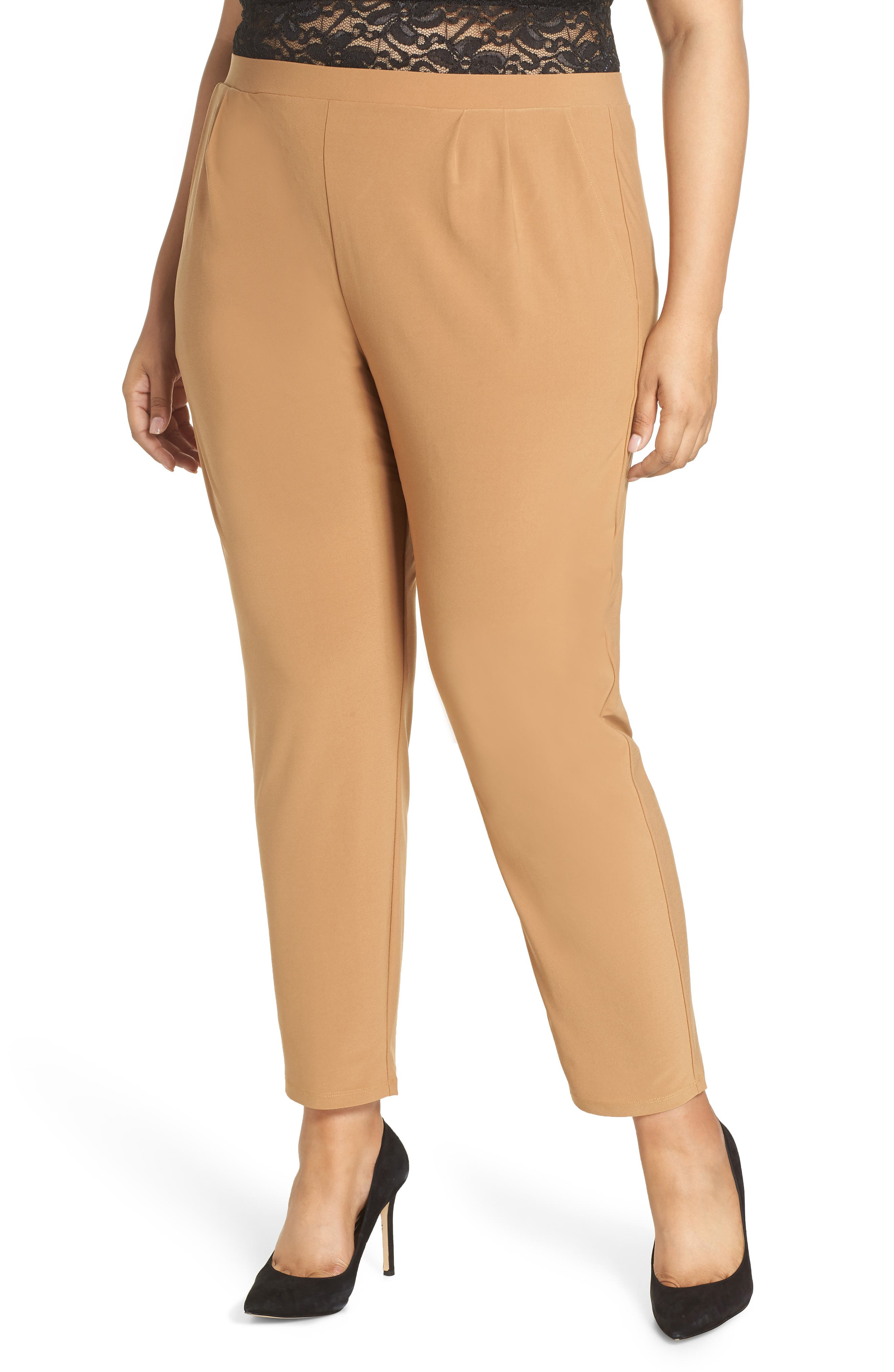 High Rise Pleated Pants,                         Main,                         color, TAN DALE