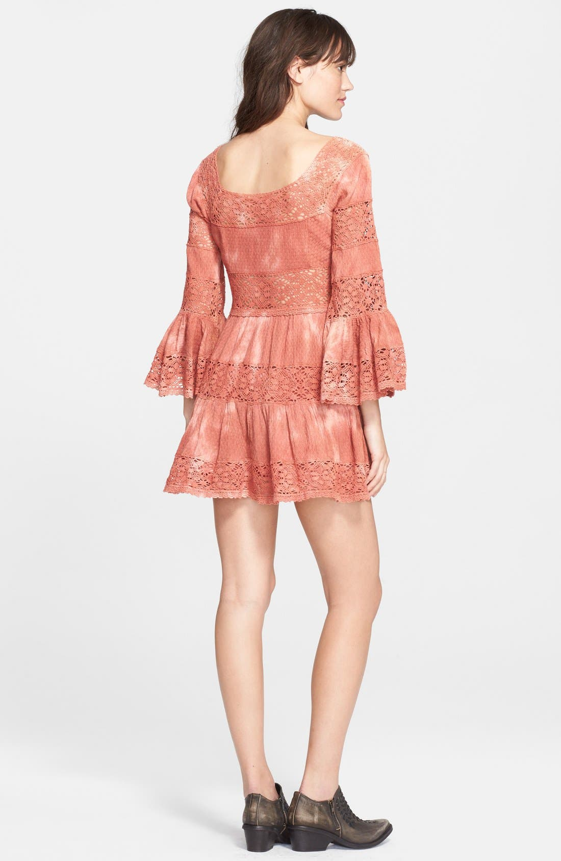 FREE PEOPLE,                             'Pippa' Gauze Fit & Flare Dress,                             Alternate thumbnail 3, color,                             800