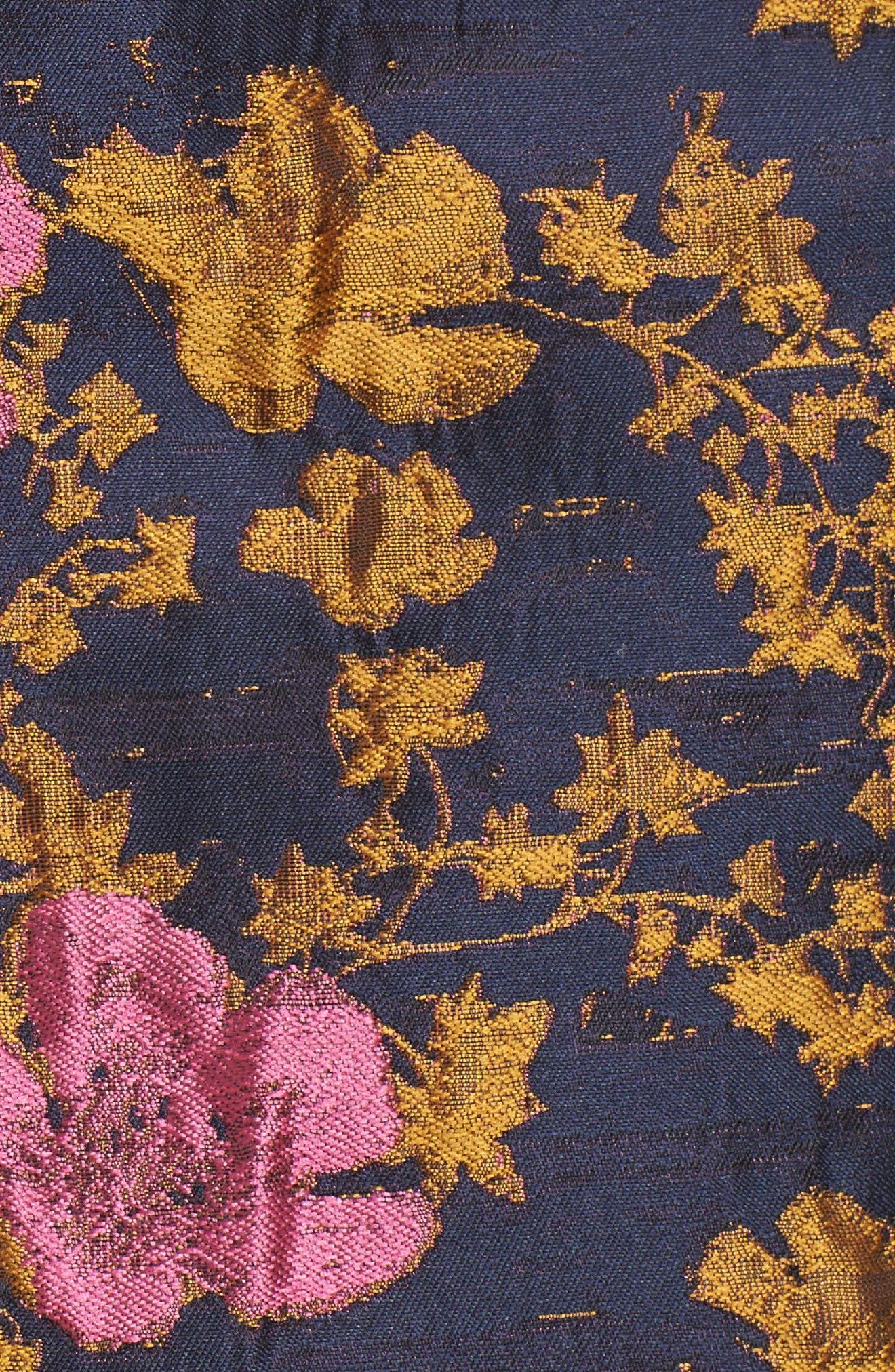 High Waist Floral Print Miniskirt,                             Alternate thumbnail 5, color,