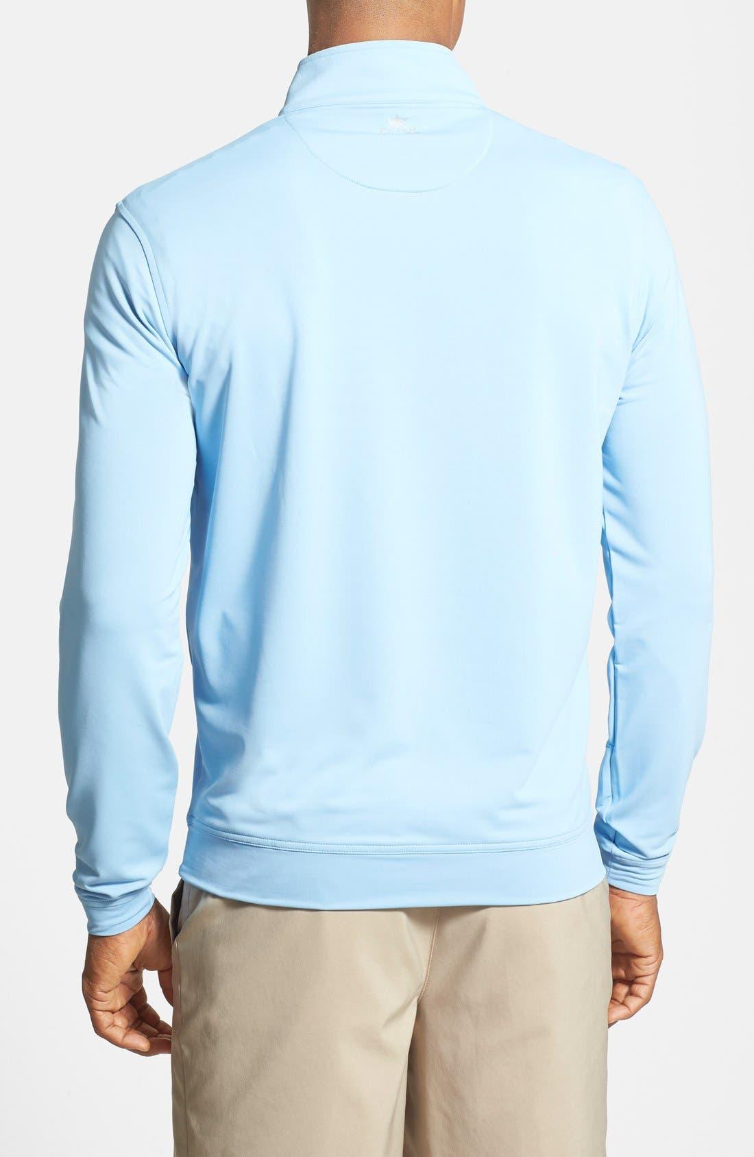 'Perth' Quarter Zip Pullover,                             Alternate thumbnail 2, color,                             COTTAGE BLUE