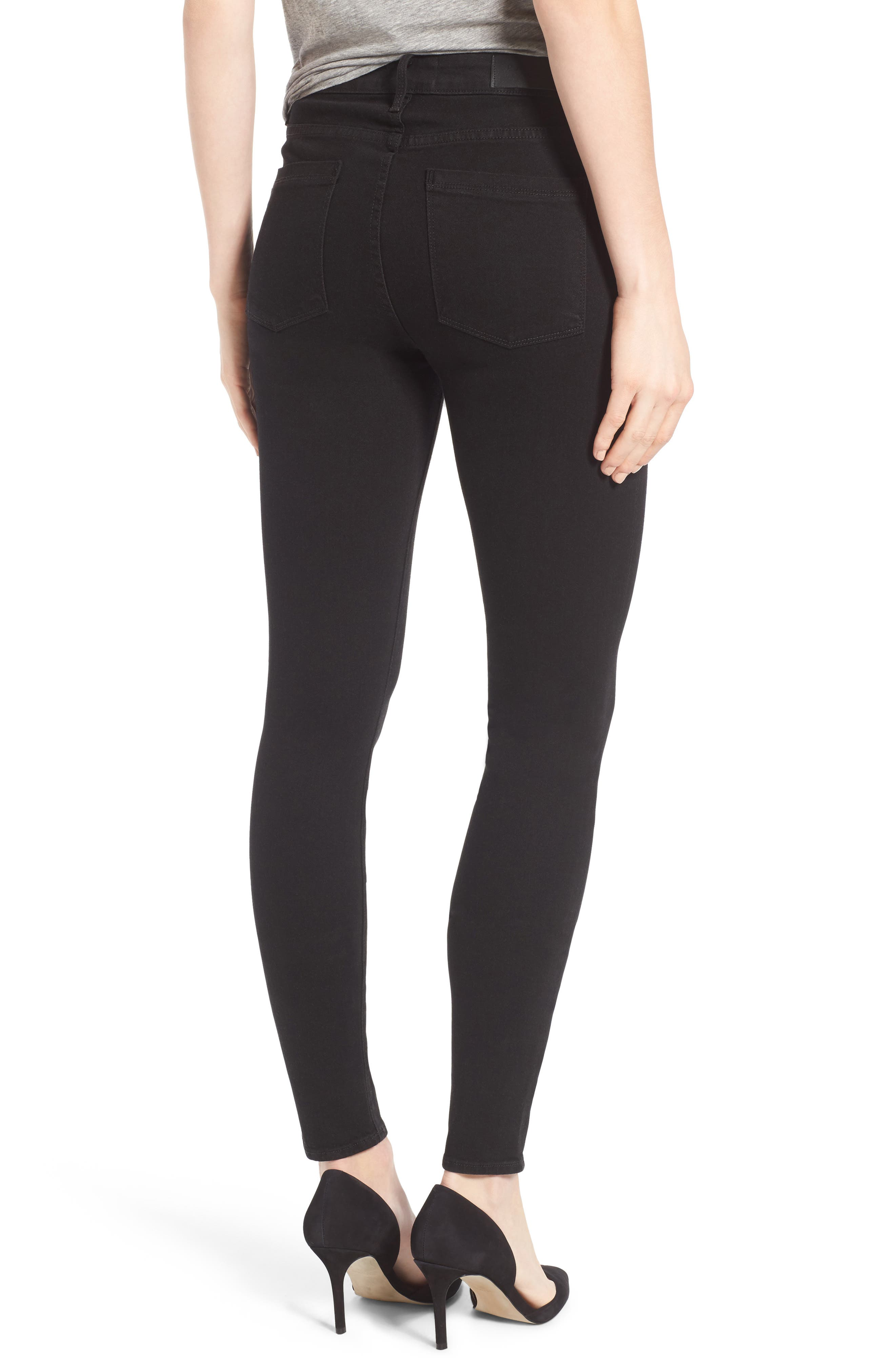 Bombshell High Waist Stretch Skinny Jeans,                             Alternate thumbnail 2, color,                             001