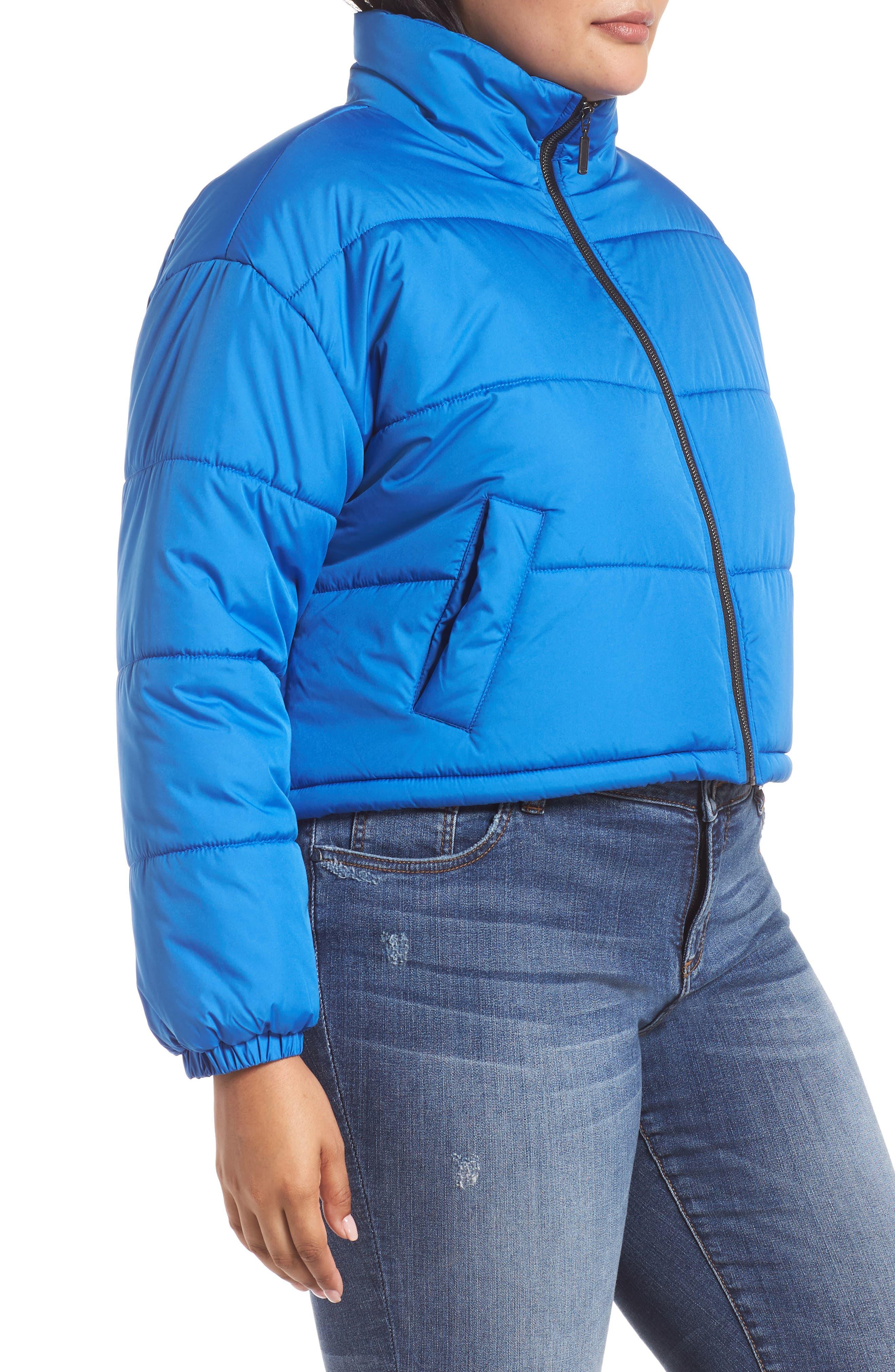 Crop Puffer Jacket,                             Alternate thumbnail 10, color,                             BLUE BOAT