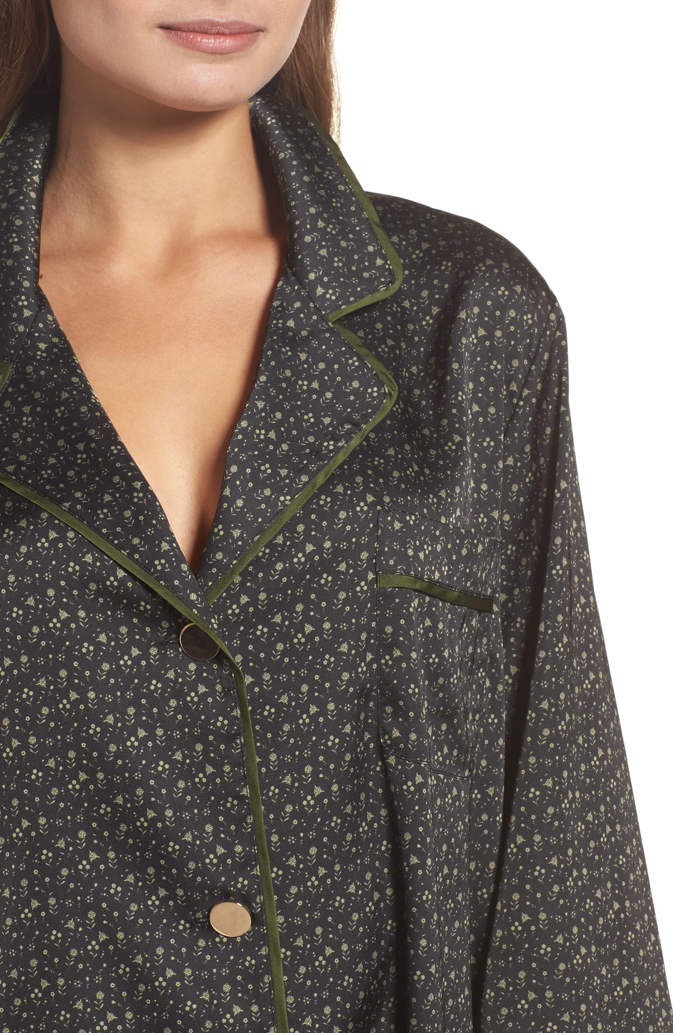 Satin Pajamas,                             Alternate thumbnail 4, color,                             002