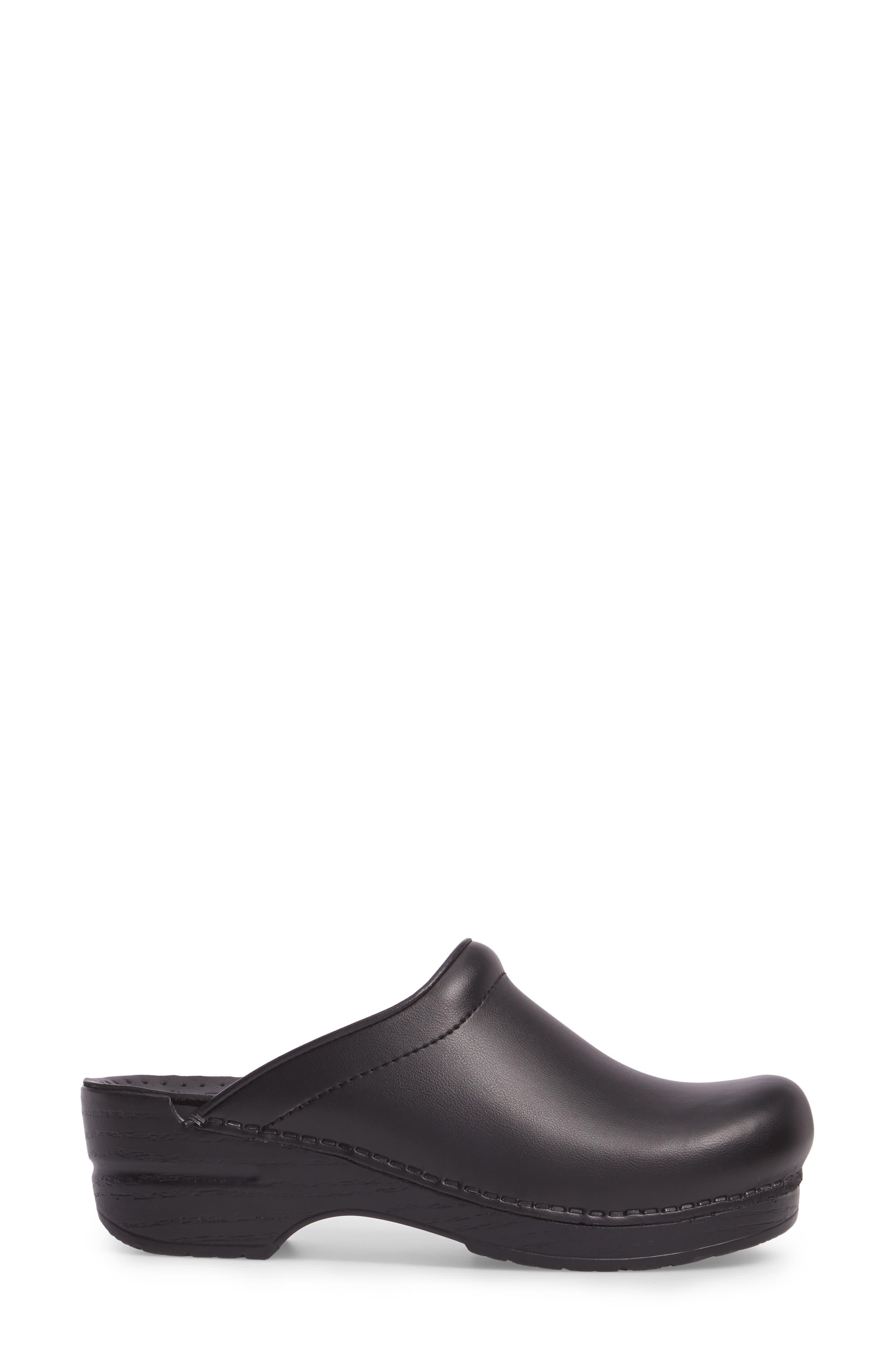 'Sonja' Patent Leather Clog,                             Alternate thumbnail 3, color,                             BLACK BOX LEATHER
