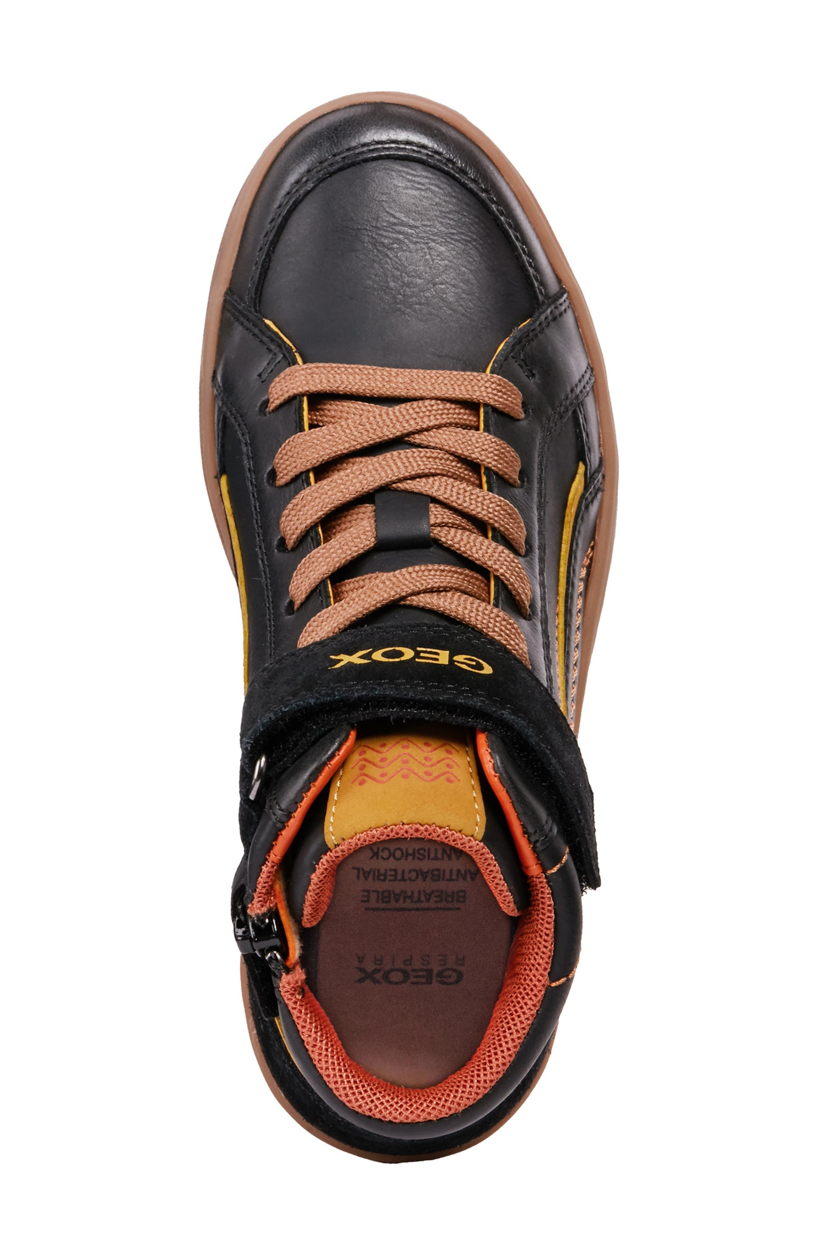 Garcia Mid Sneaker,                             Alternate thumbnail 5, color,                             BLACK/ DARK YELLOW