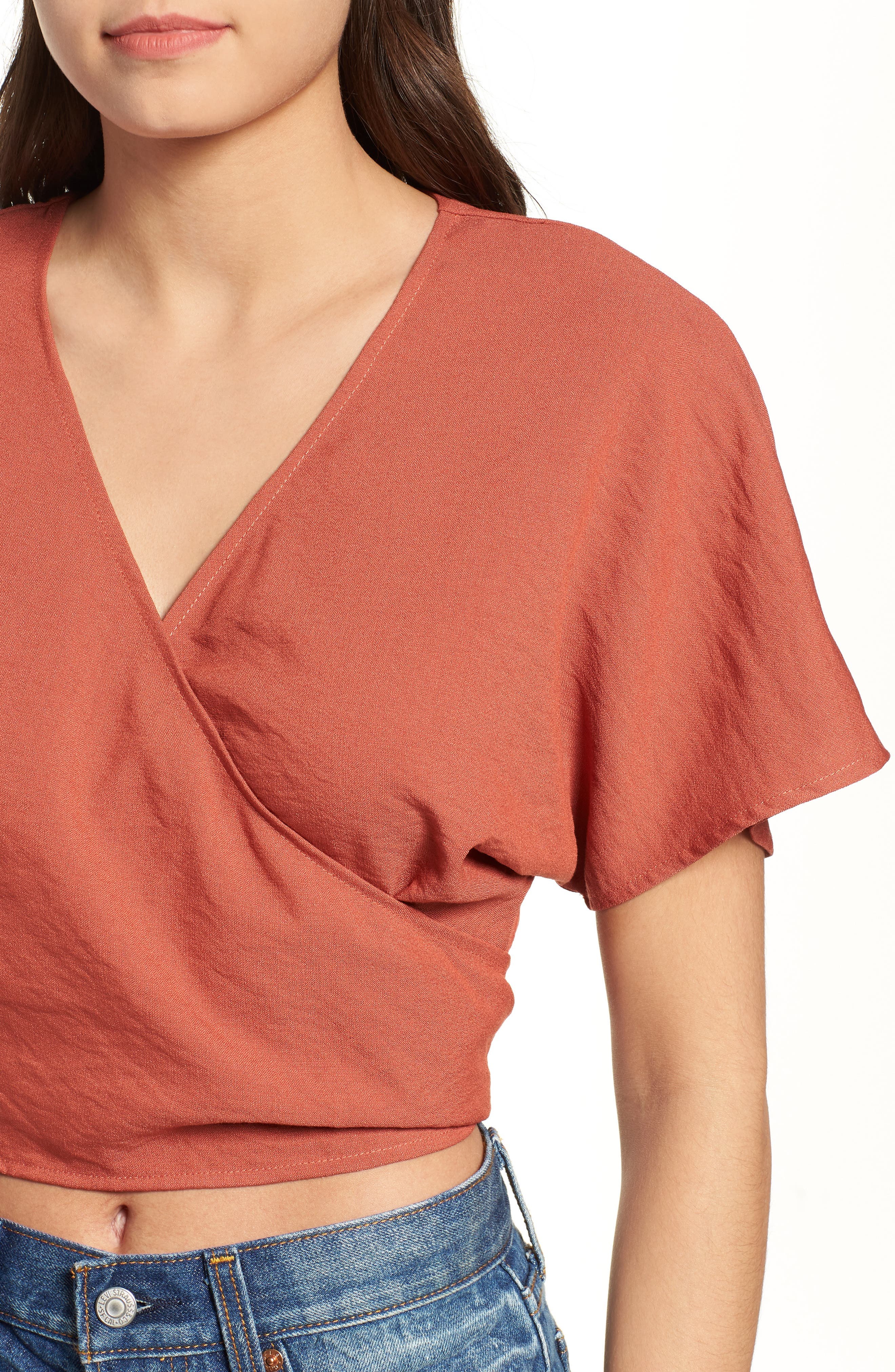 So Sweet Wrap Top,                             Alternate thumbnail 5, color,                             800