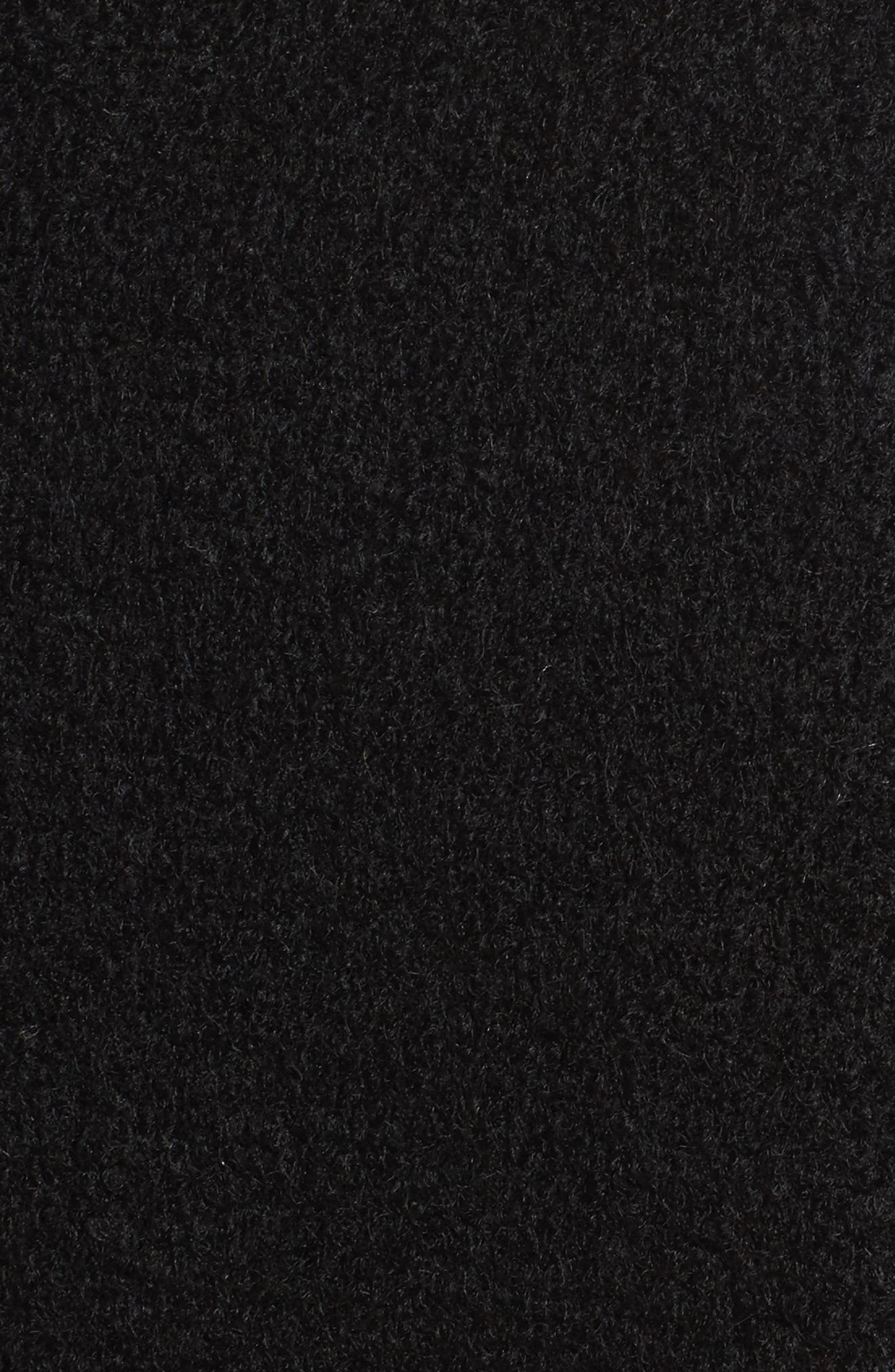 Belted Boiled Wool Blend Coat,                             Alternate thumbnail 6, color,                             001