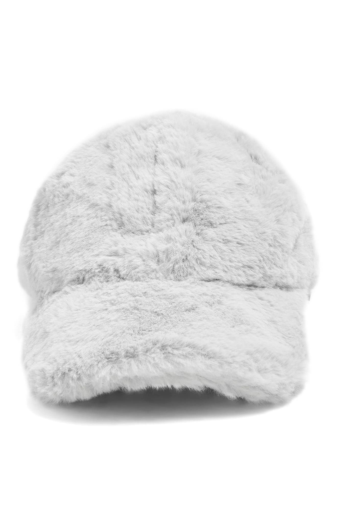 Faux Fur Baseball Cap,                             Alternate thumbnail 2, color,                             020