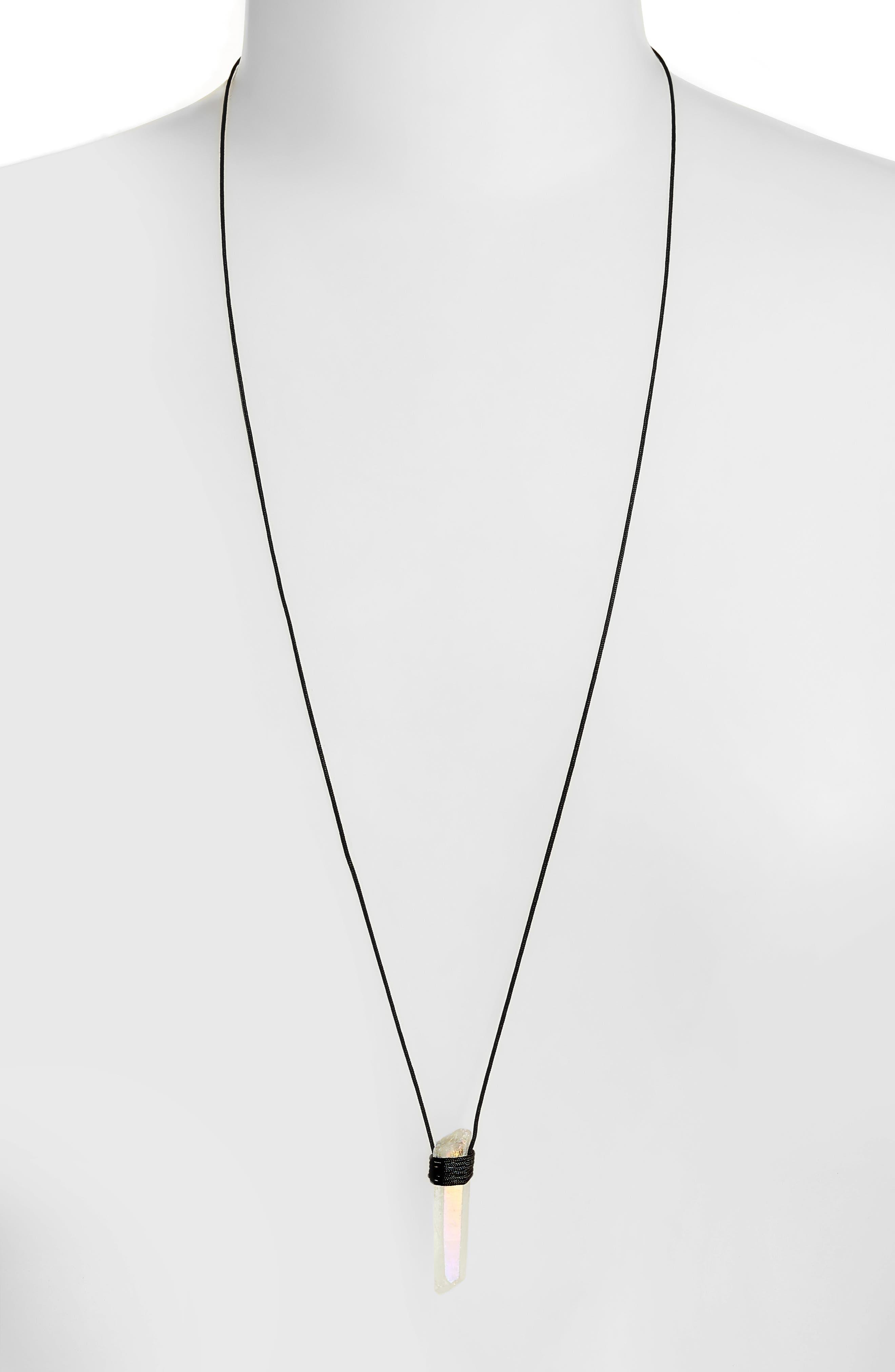 Opal Quartz Pendant Necklace,                             Alternate thumbnail 2, color,                             100