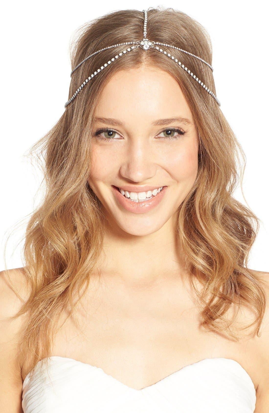 'Lindsay' Embellished Hair Chain,                             Main thumbnail 1, color,