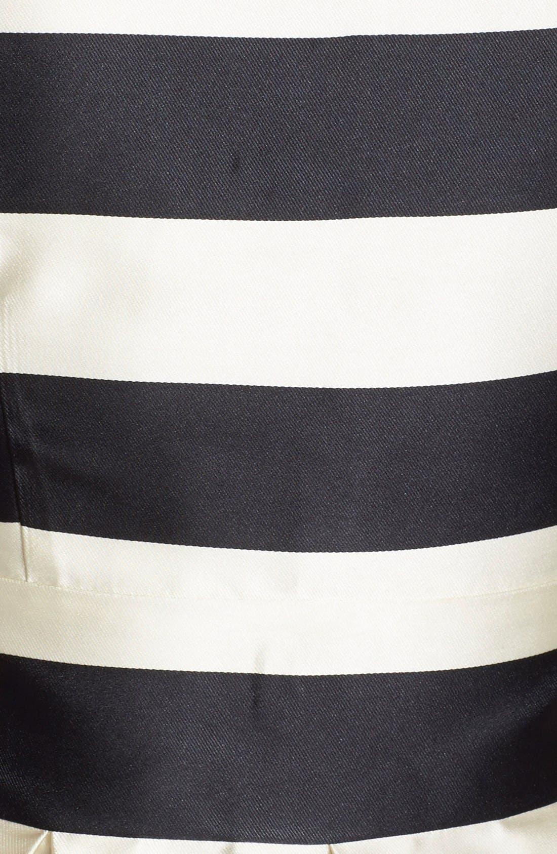 Stripe Crepe Fit & Flare Dress,                             Alternate thumbnail 5, color,                             011