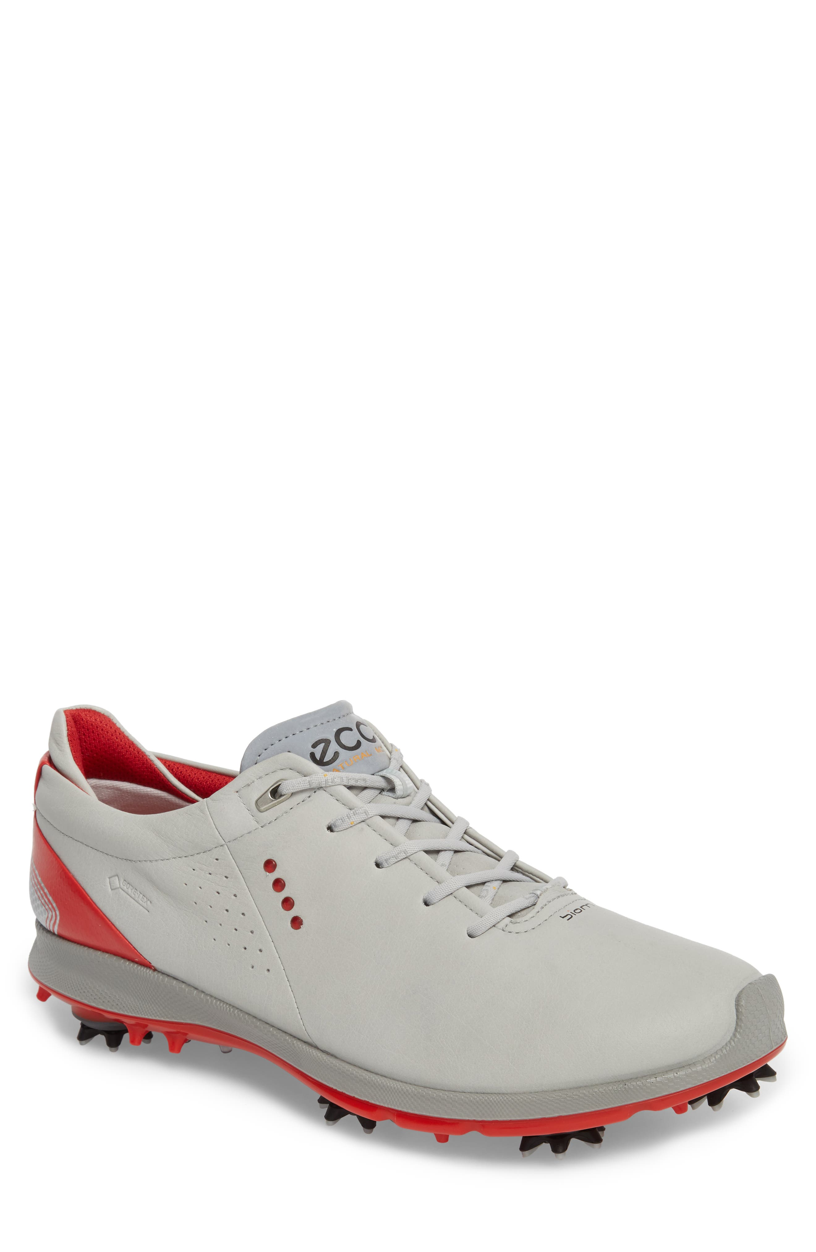 BIOM G 2 Free Gore-Tex<sup>®</sup> Golf Shoe,                         Main,                         color, CONCRETE/ SCARLET LEATHER