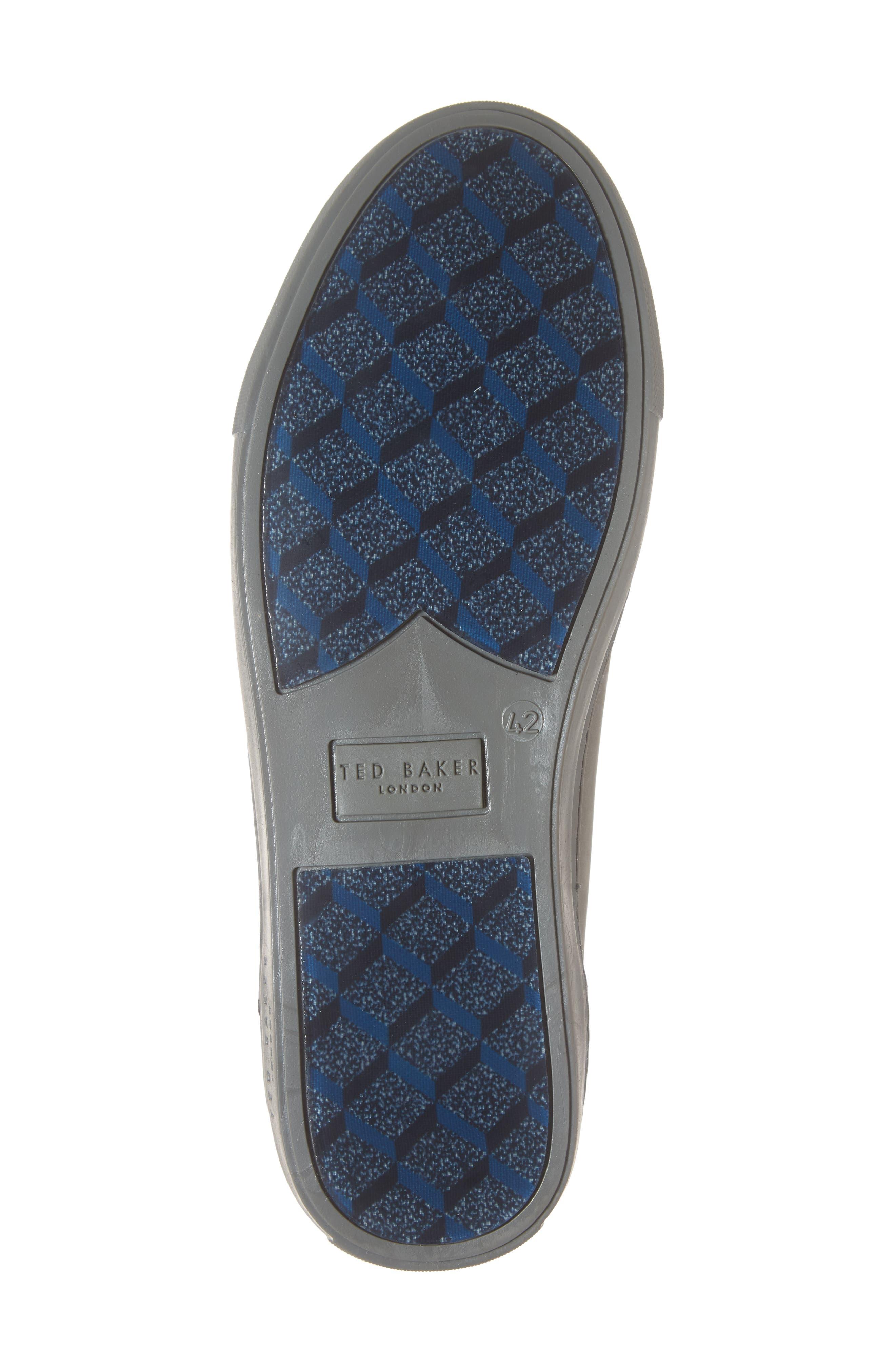 Dahvid Nubuck Sneaker,                             Alternate thumbnail 6, color,                             GREY NUBUCK