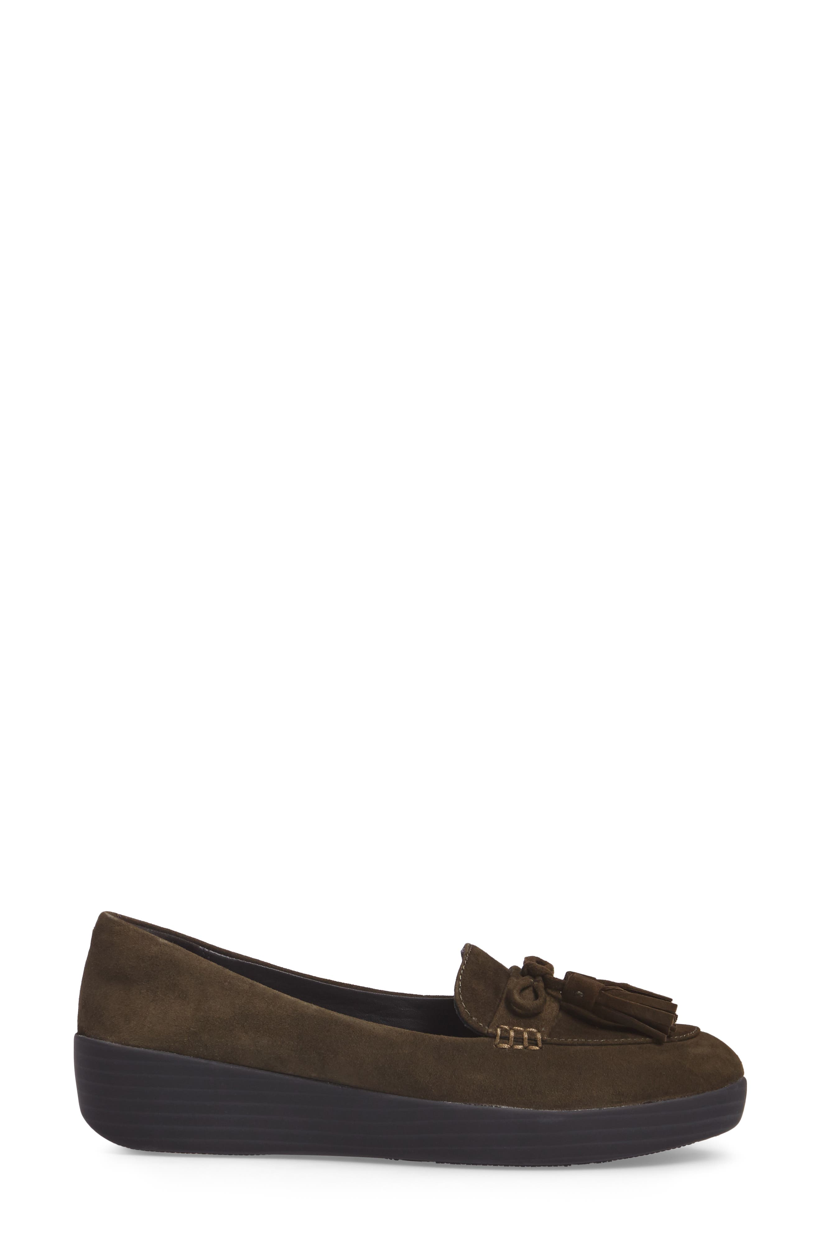 Tassel Bow Sneakerloafer<sup>™</sup> Water Repellent Flat,                             Alternate thumbnail 10, color,
