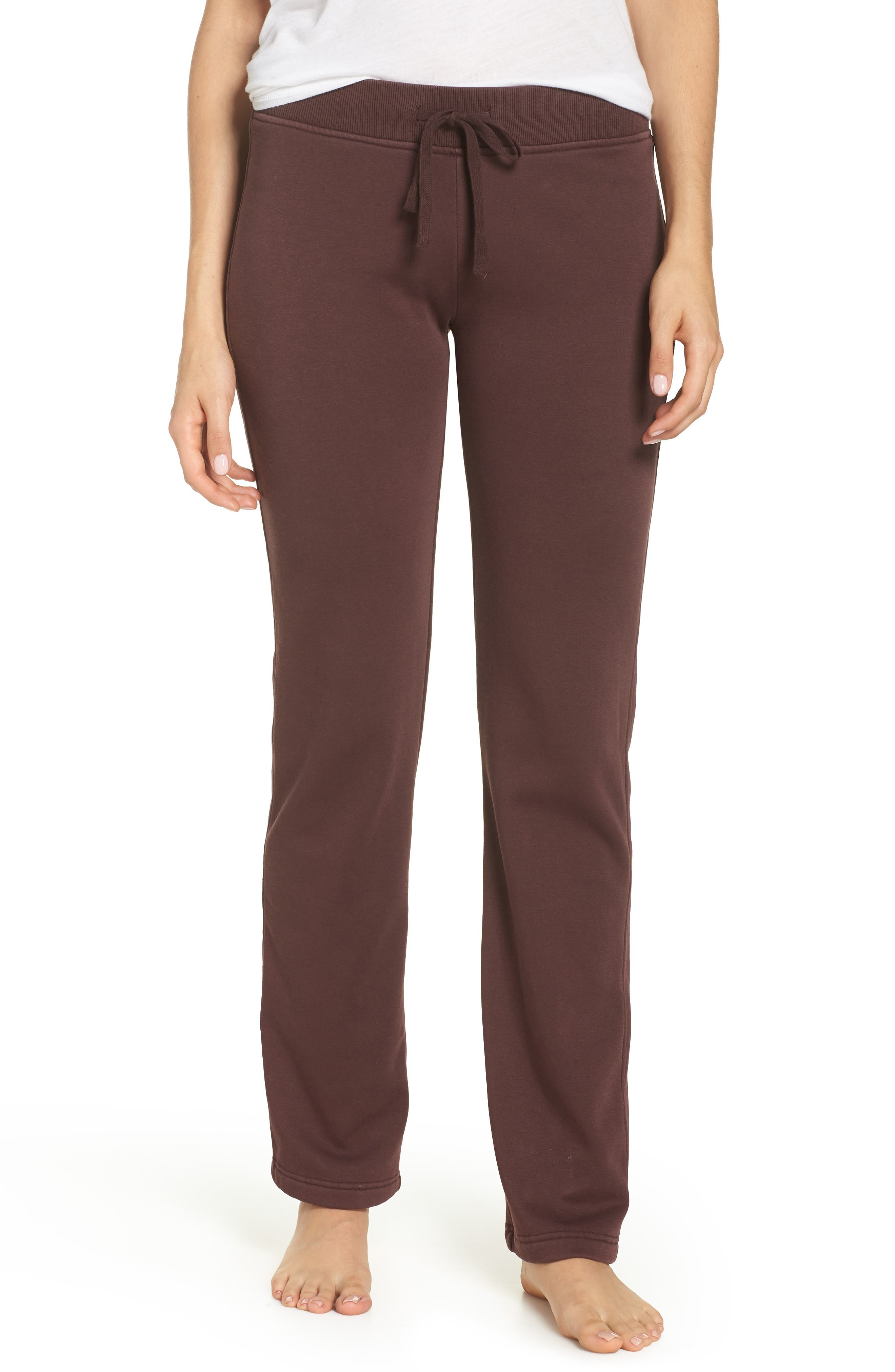 Penny Washed Lounge Pants,                         Main,                         color, PORT