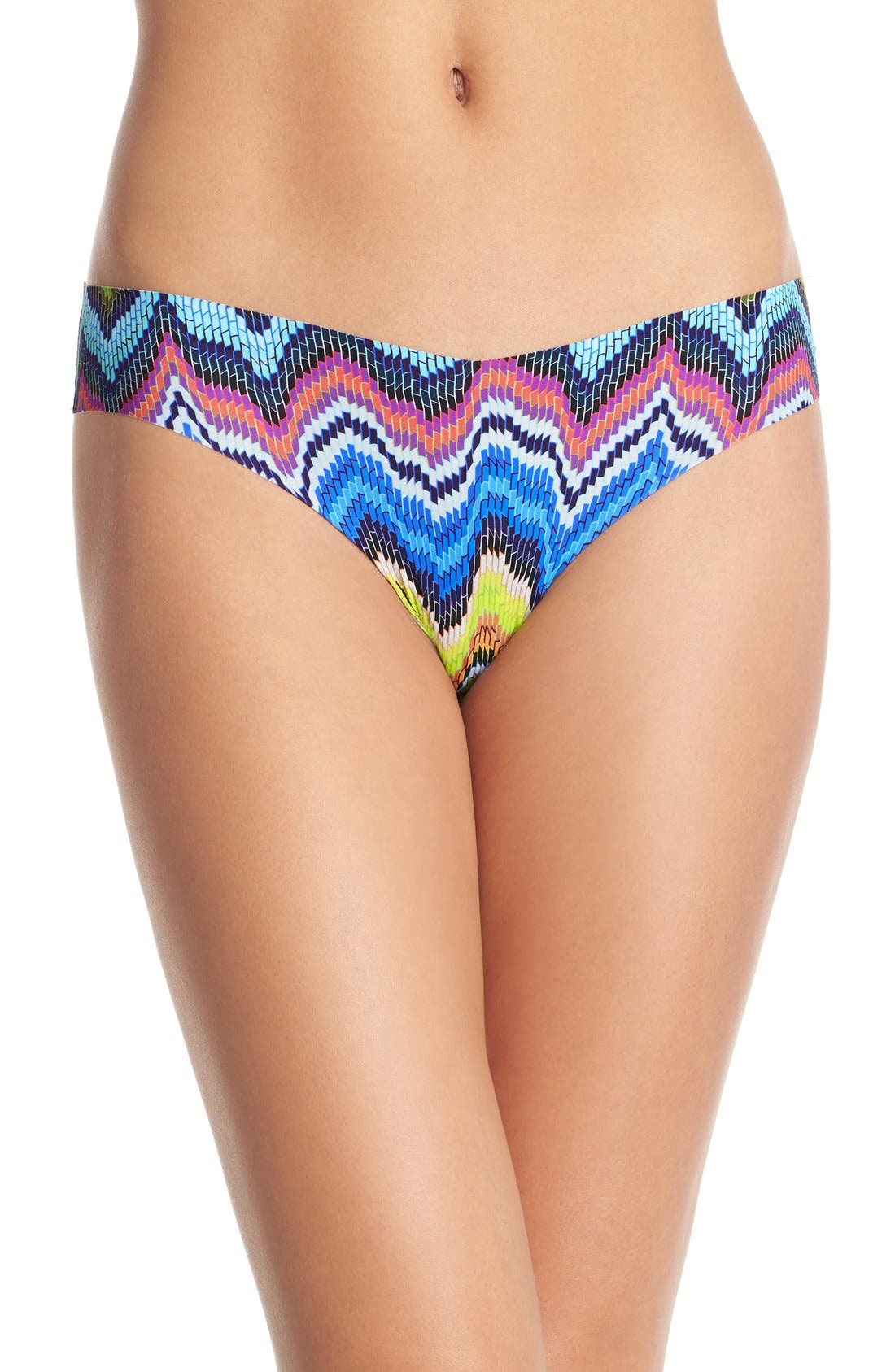 Print Microfiber Thong,                             Main thumbnail 53, color,