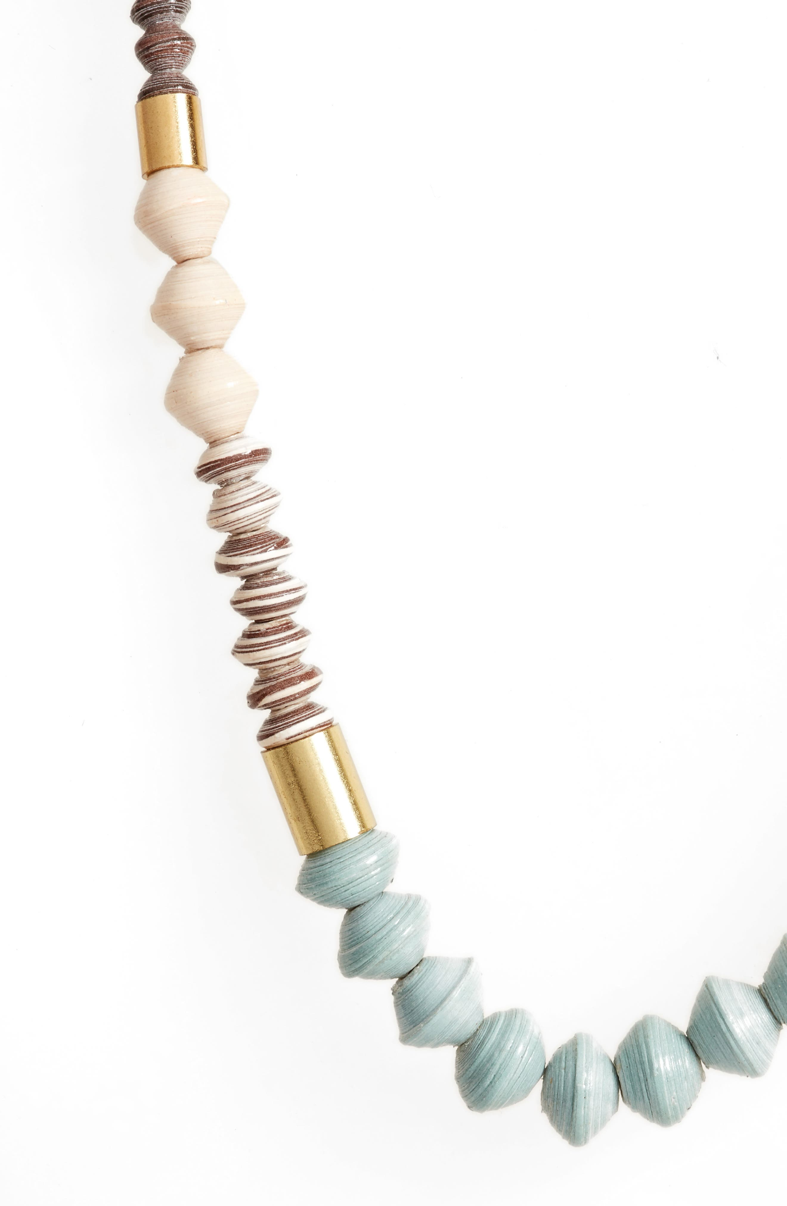 Dipped Ribbon Paper Bead Necklace,                             Main thumbnail 1, color,                             200