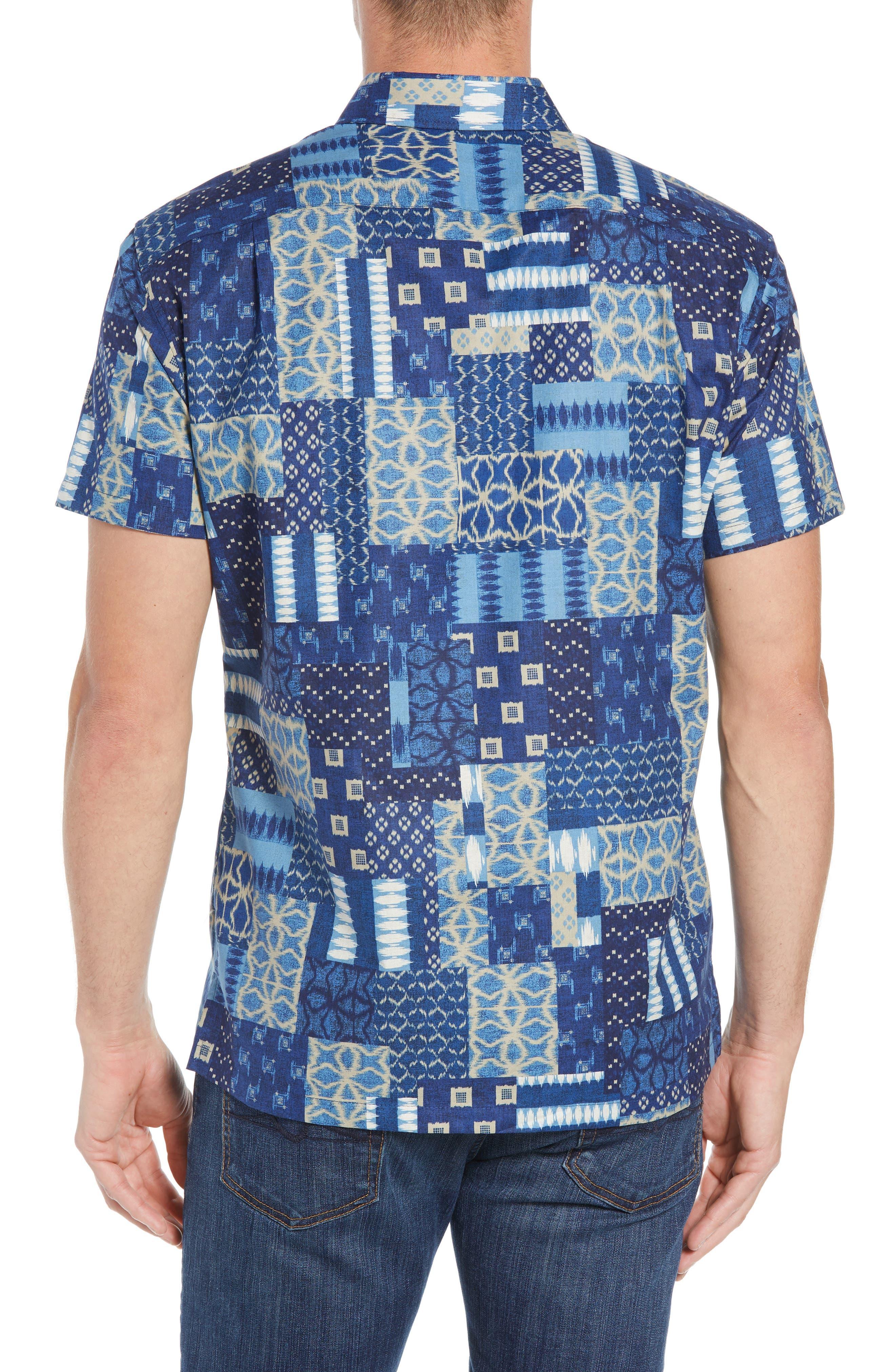 Yukata Trim Fit Sport Shirt,                             Alternate thumbnail 3, color,                             NAVY