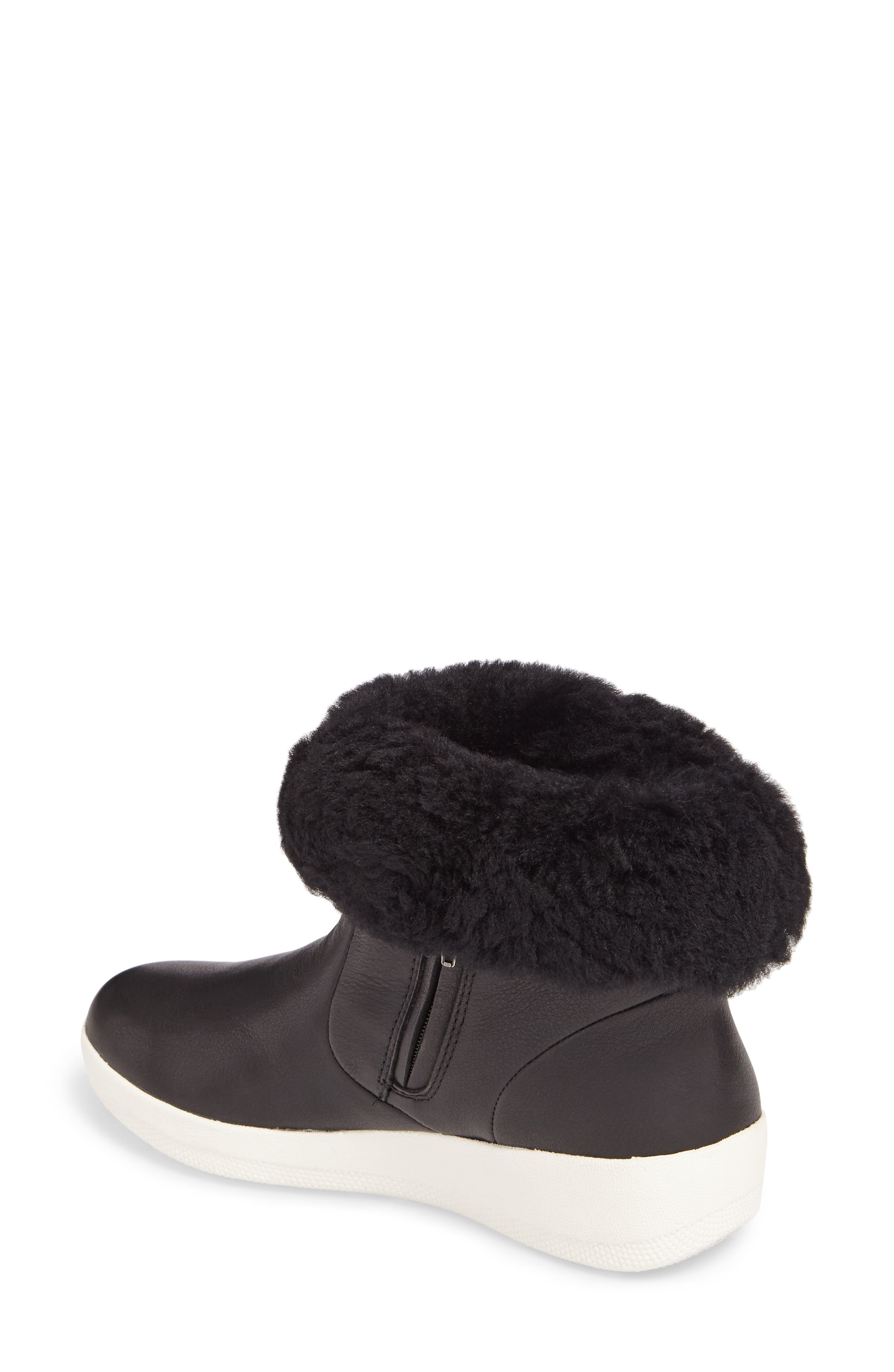 Skatebootie<sup>™</sup> with Genuine Shearling Cuff,                             Alternate thumbnail 3, color,