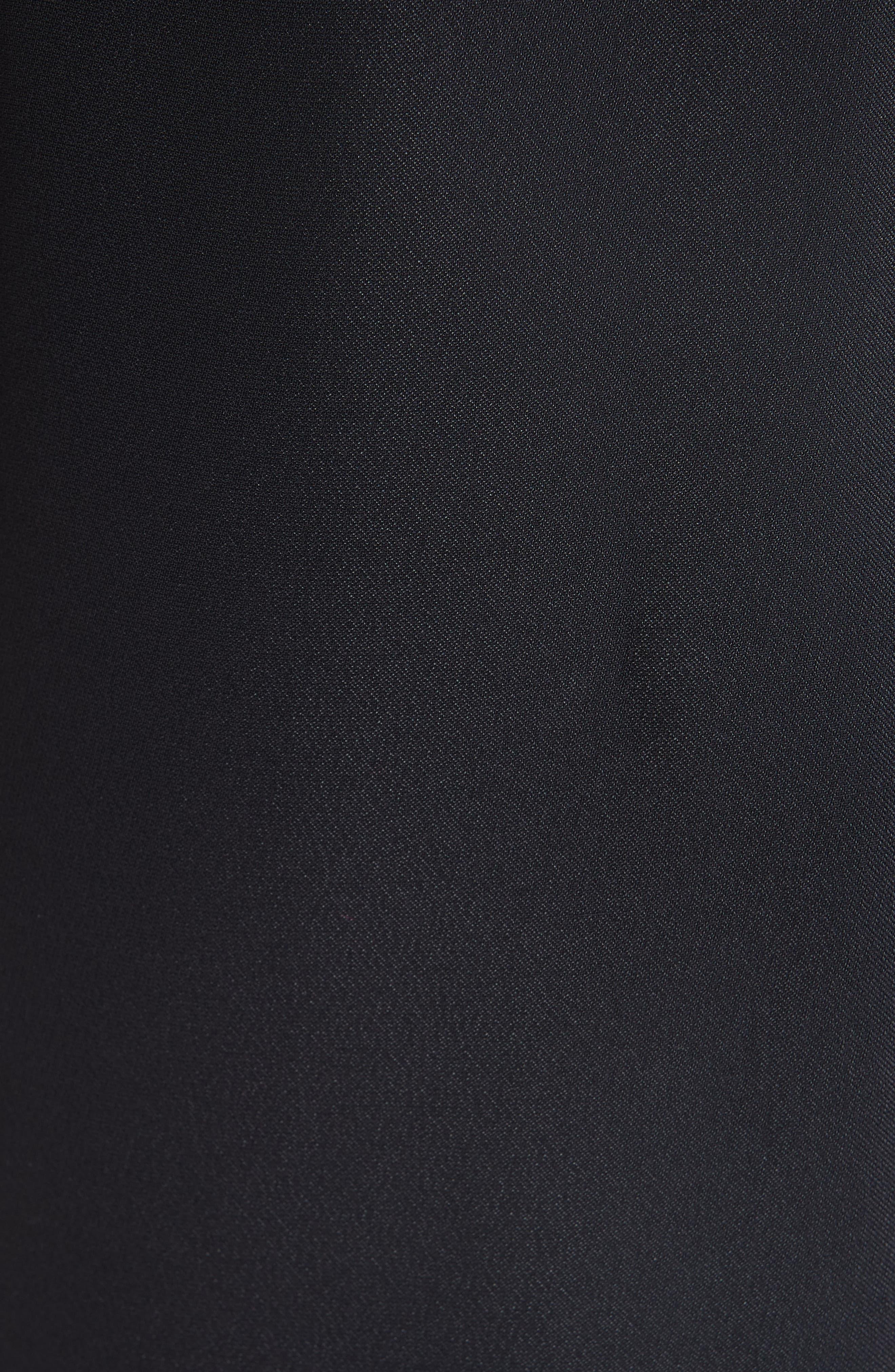 Open Back Cady Dress,                             Alternate thumbnail 6, color,                             BLACK