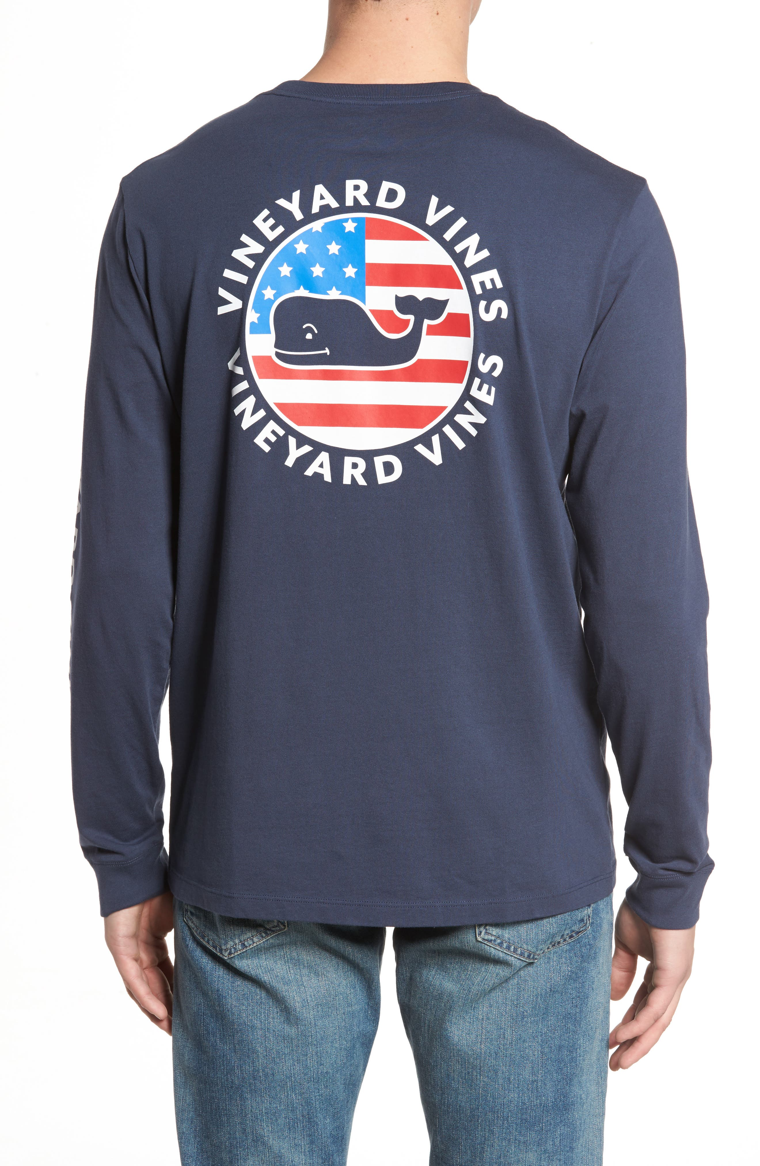 Patriot Dot Graphic T-Shirt,                             Alternate thumbnail 2, color,