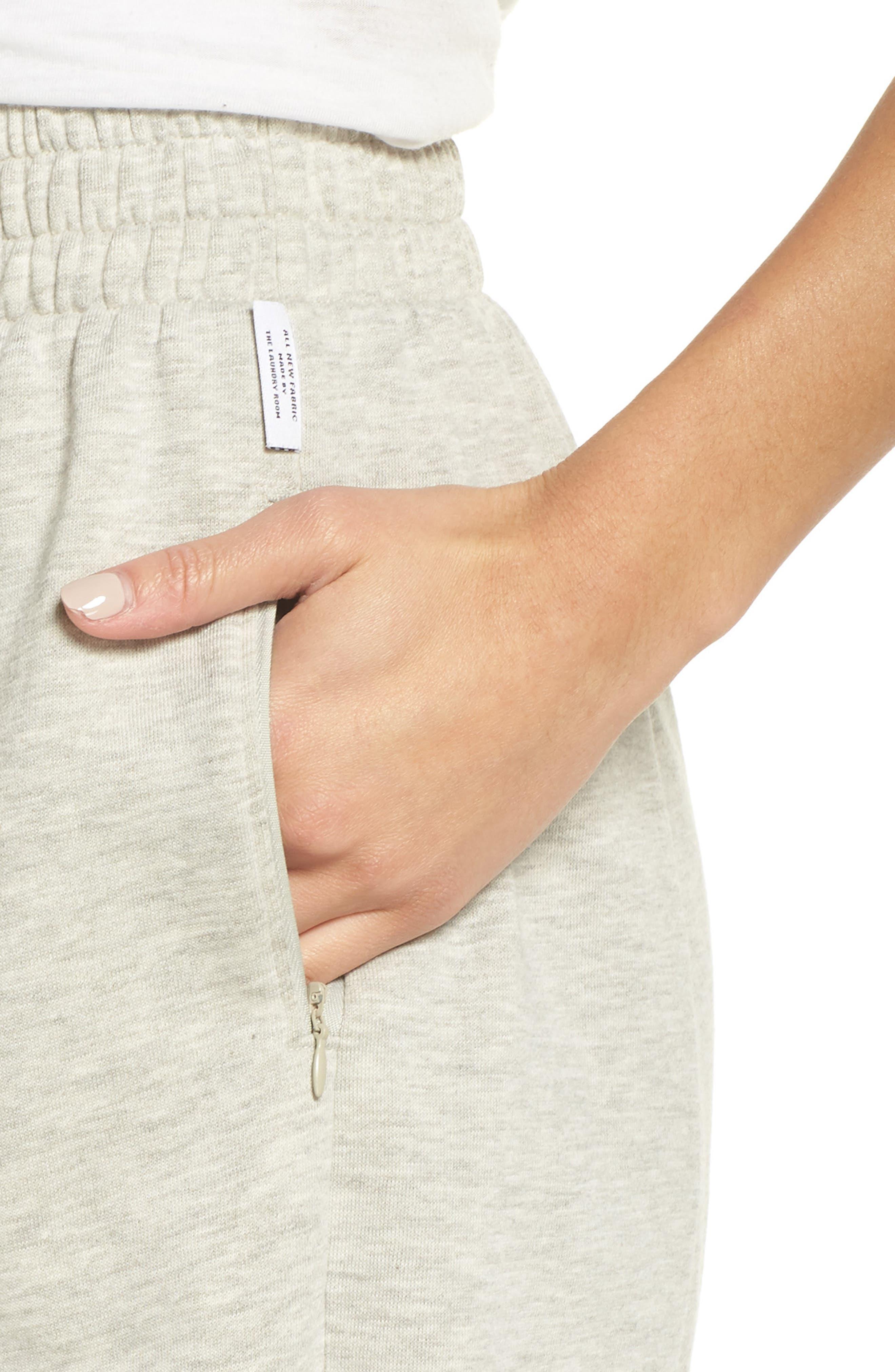 Bermuda Lounge Shorts,                             Alternate thumbnail 4, color,                             PEBBLE HEATHER
