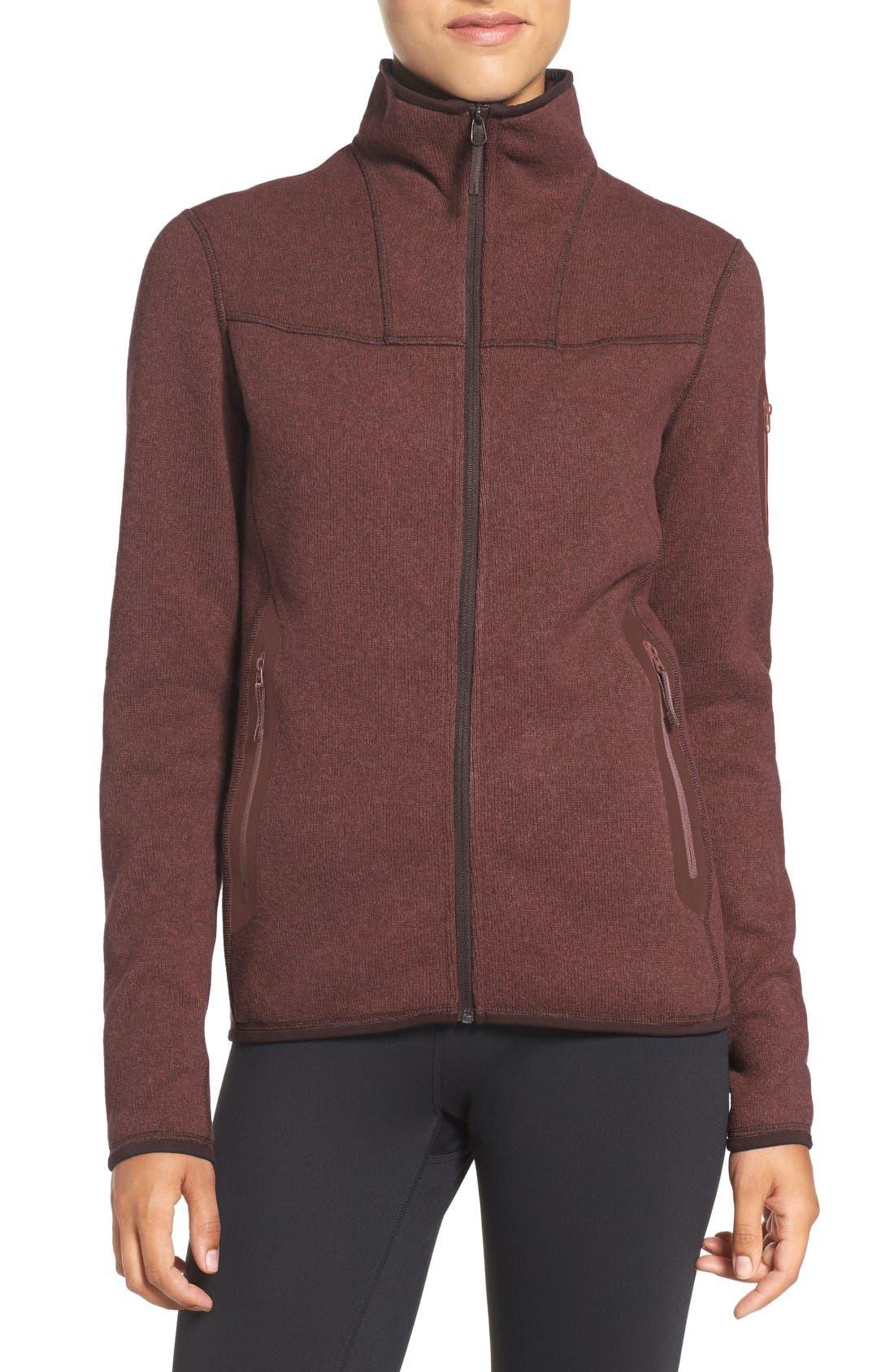 Covert Cardigan Fleece Jacket,                         Main,                         color, 200
