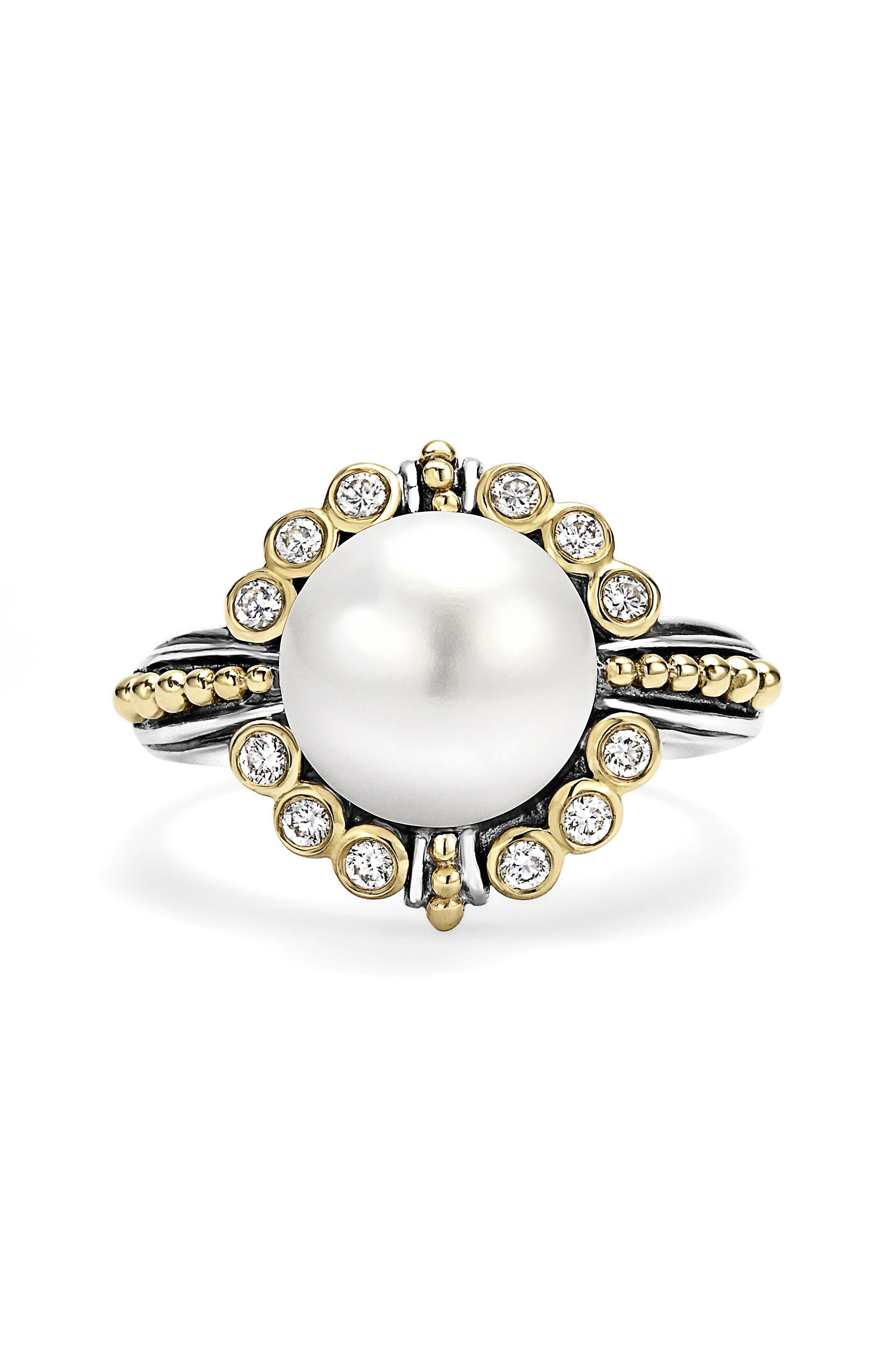 Luna Diamond & Pearl Ring,                             Alternate thumbnail 2, color,                             040
