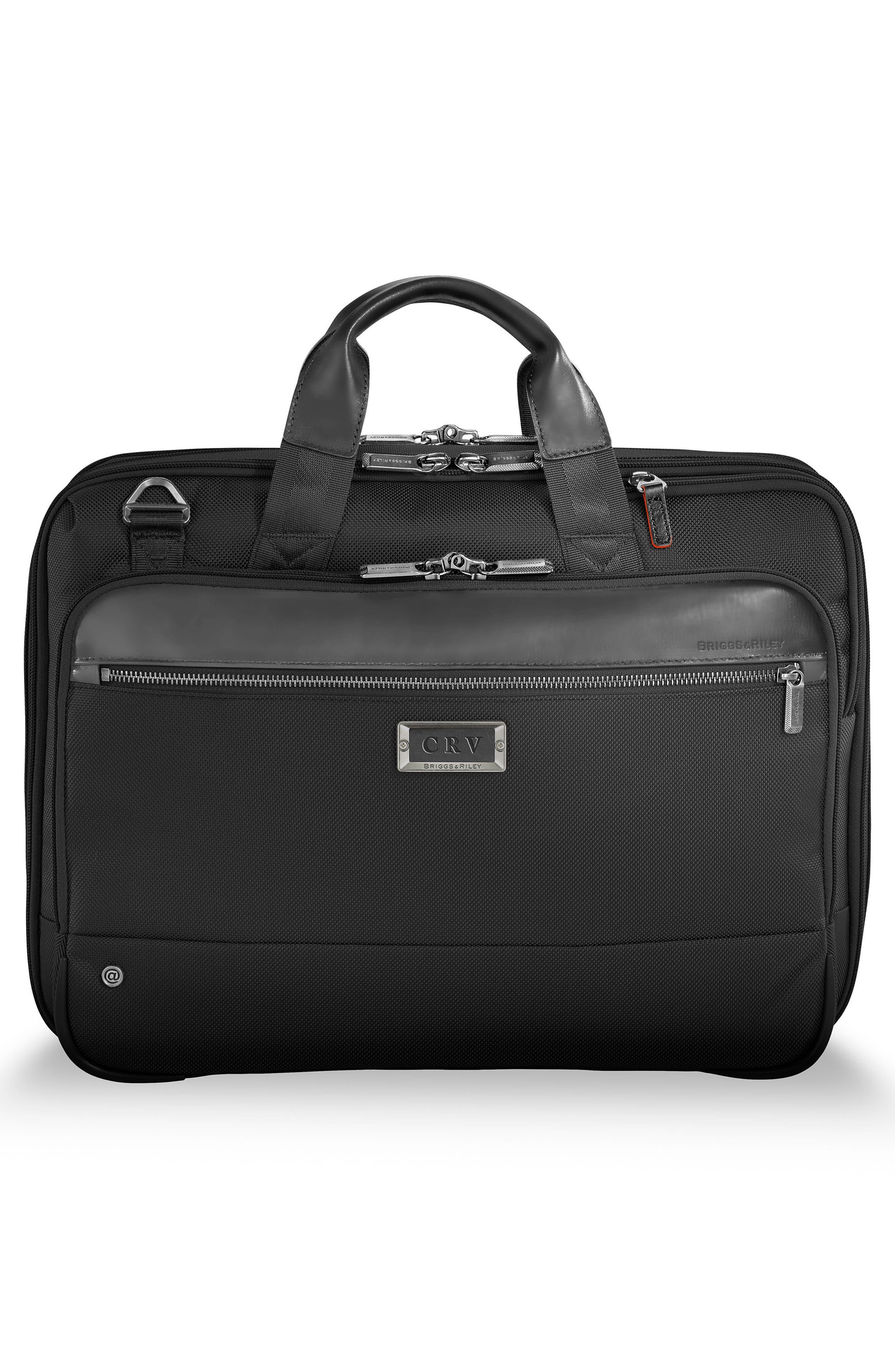 @work Expandable Briefcase,                             Alternate thumbnail 4, color,                             BLACK