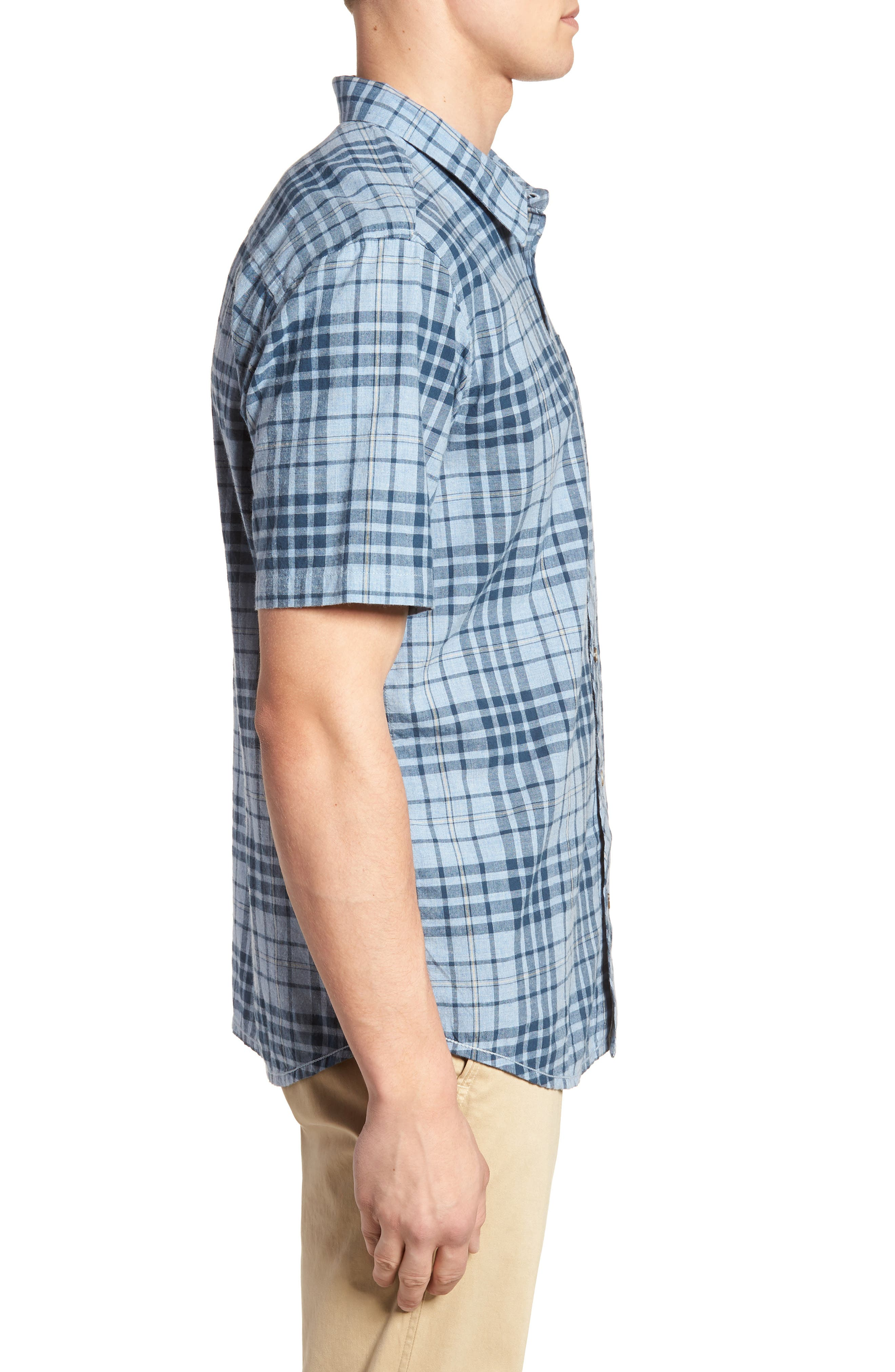 Rhodes Check Sport Shirt,                             Alternate thumbnail 6, color,