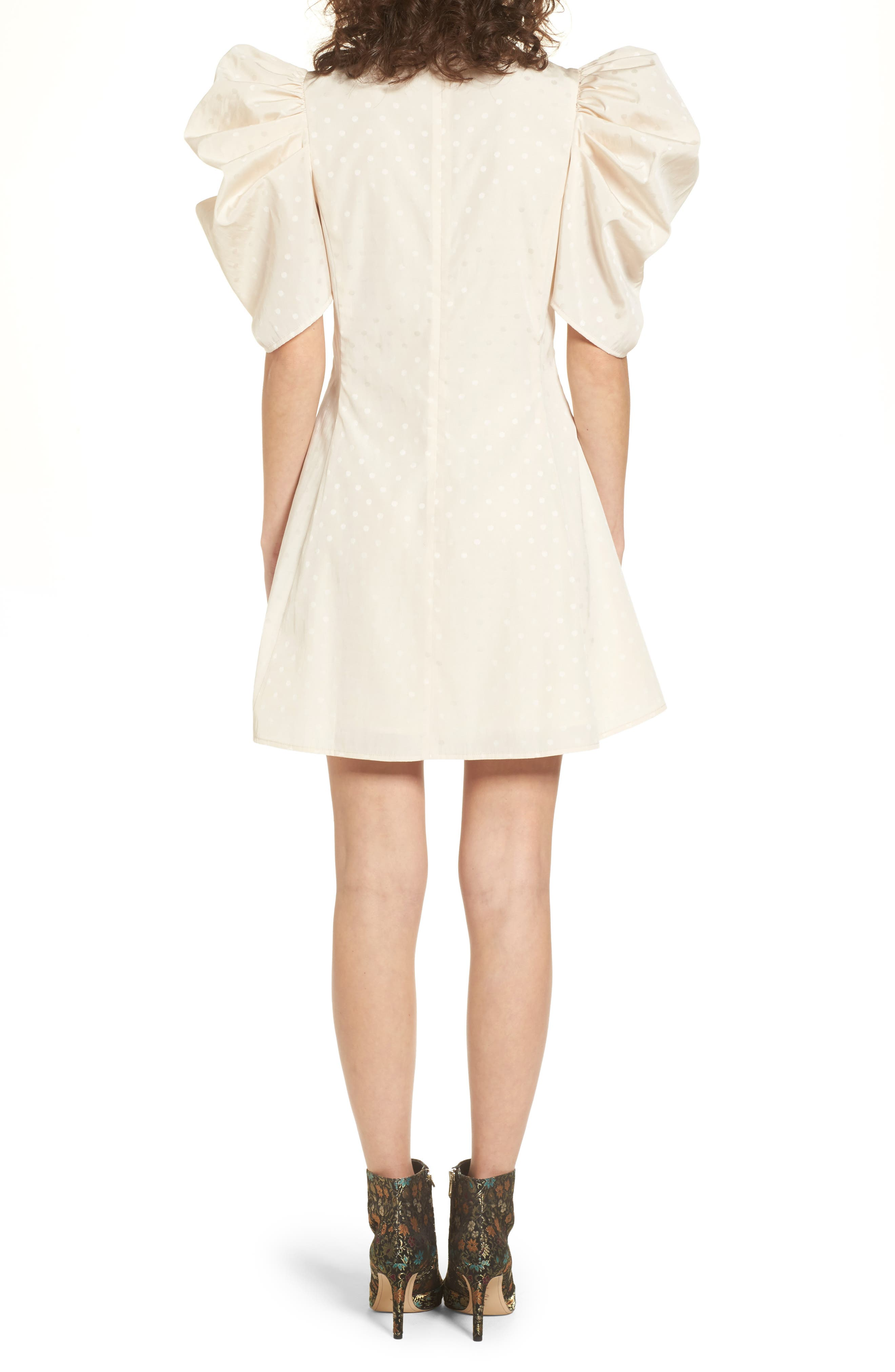 Puff Sleeve Dress,                             Alternate thumbnail 2, color,                             270