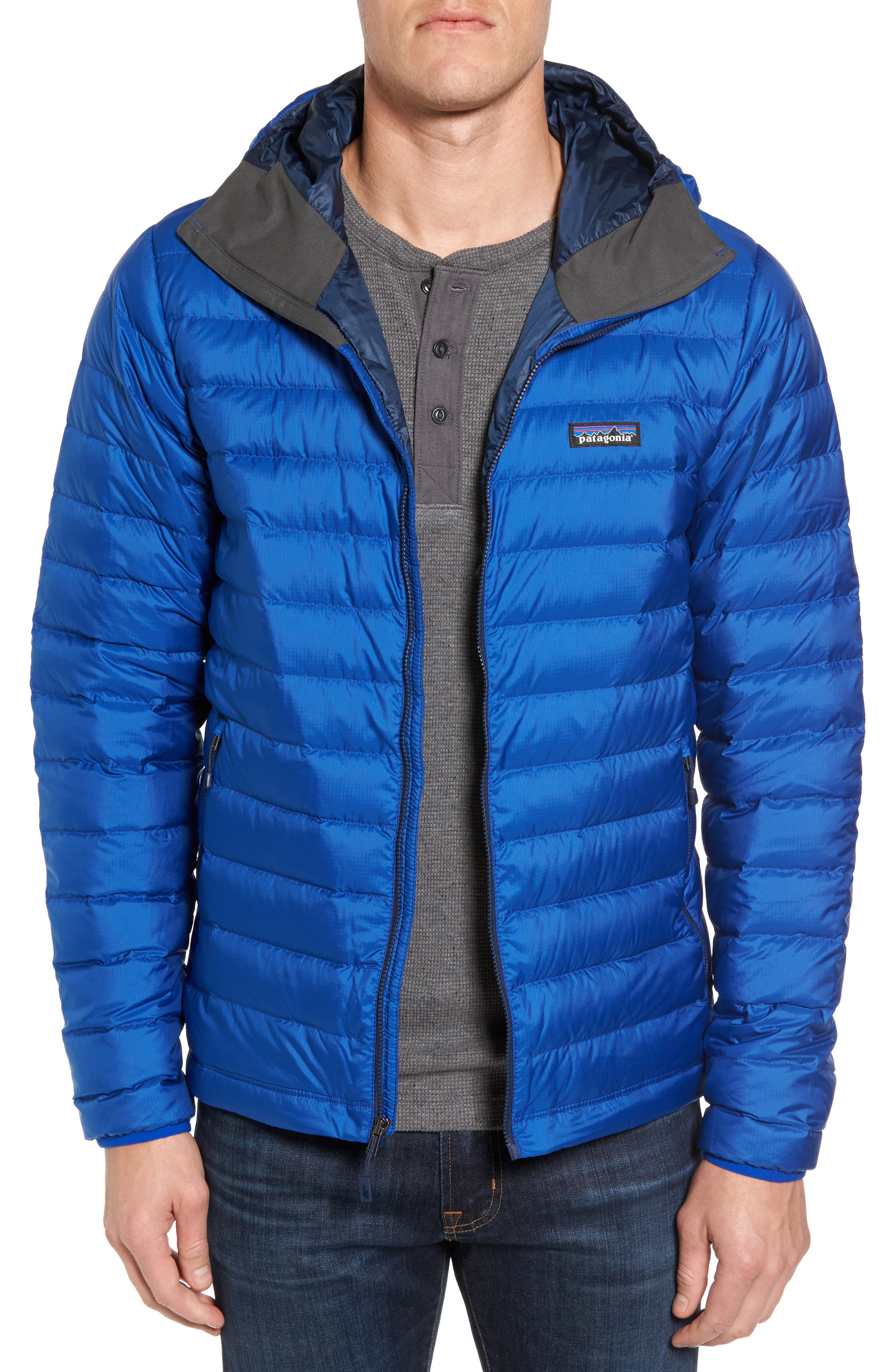 Packable Windproof & Water Resistant Goose Down Sweater Hooded Jacket,                             Main thumbnail 2, color,