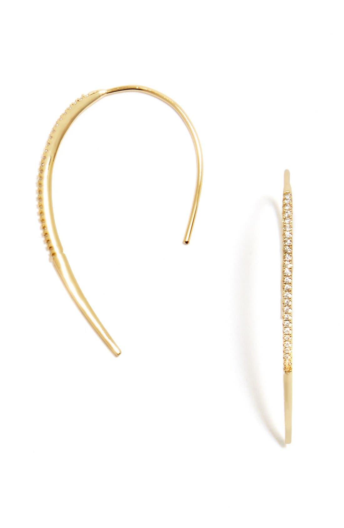'Hannela' Threader Earrings, Main, color, 710