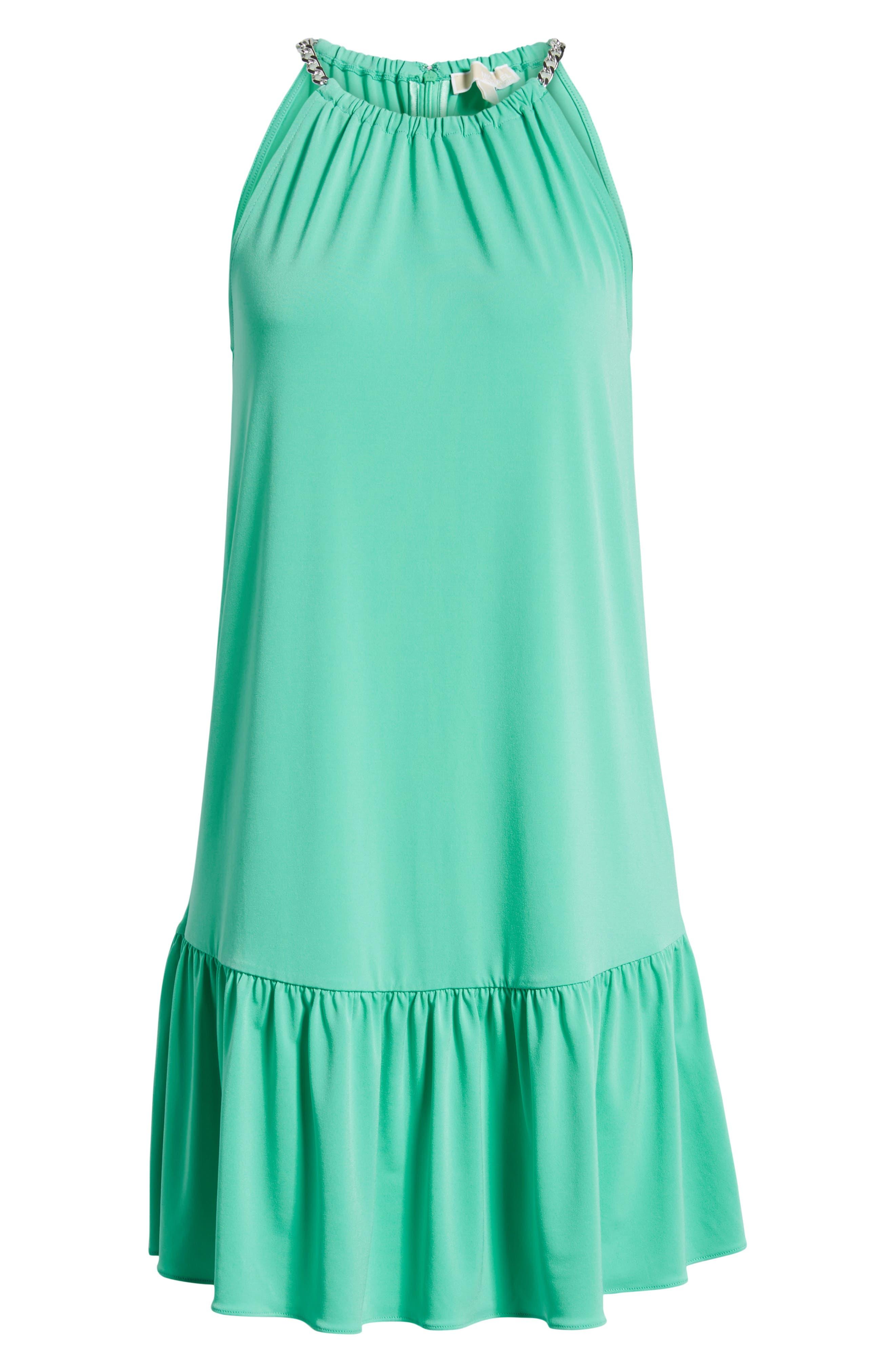Chain Detail Halter Dress,                             Alternate thumbnail 8, color,                             300